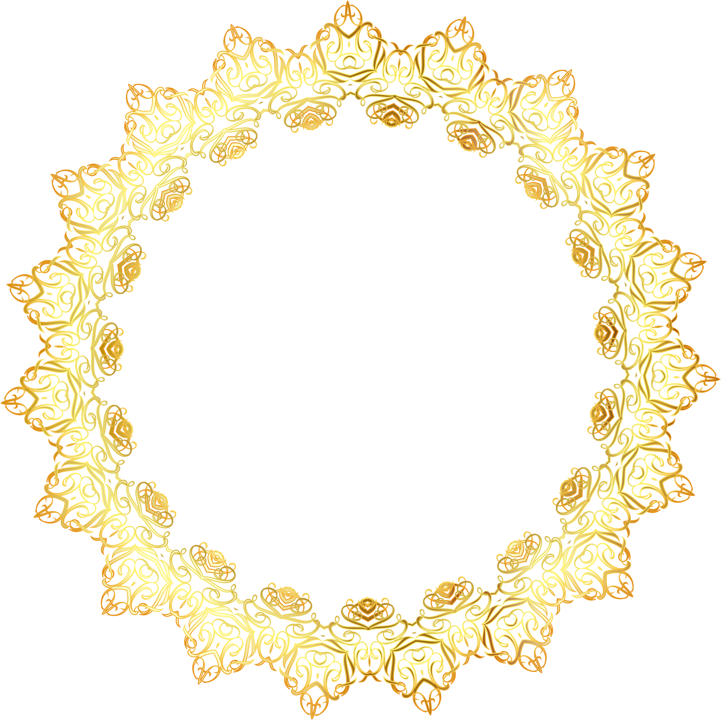 Yellow Oval Office Clipart Gold Abstract Elegant Frame No Background