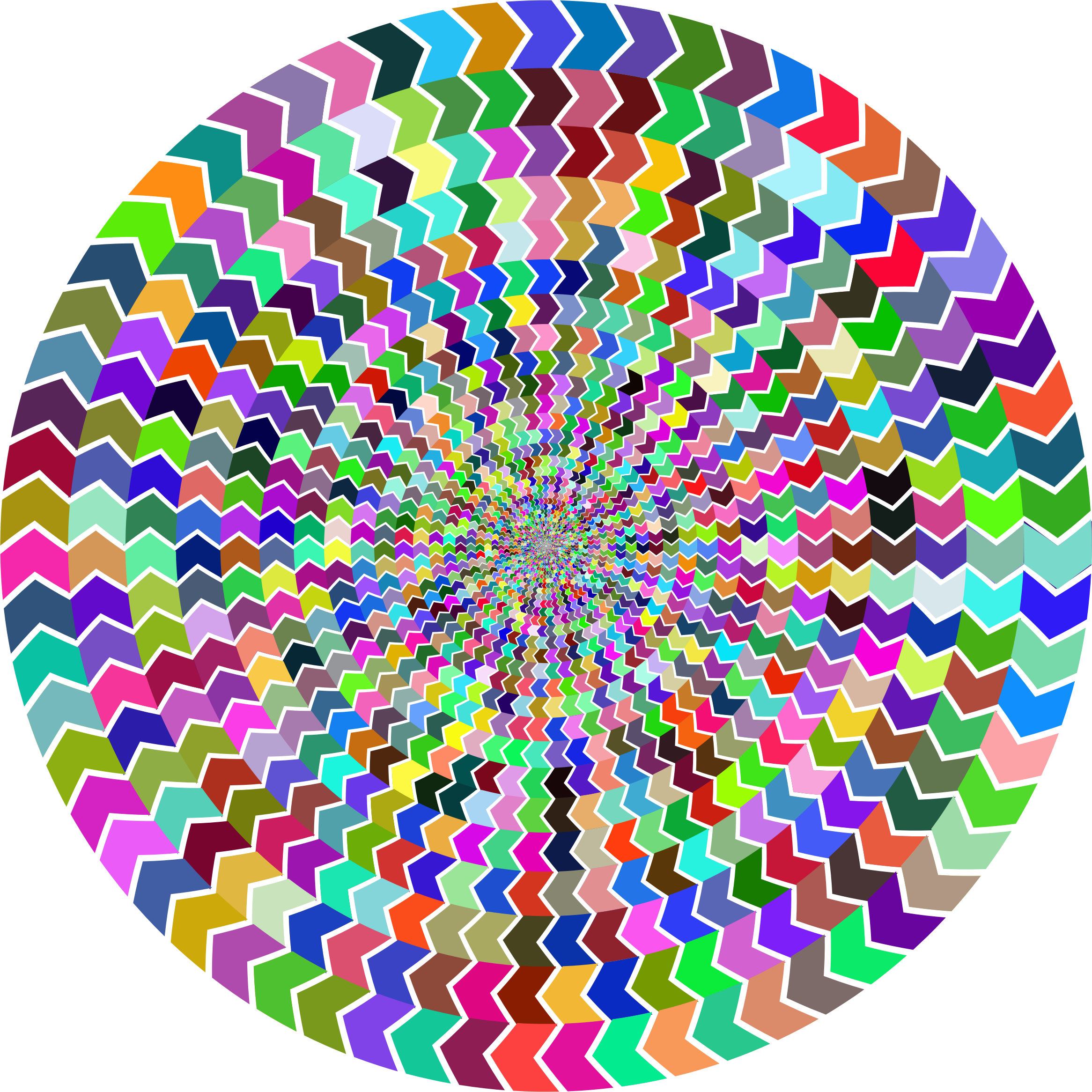 Prismatic Zig Zag Illusion Vortex 2 by GDJ