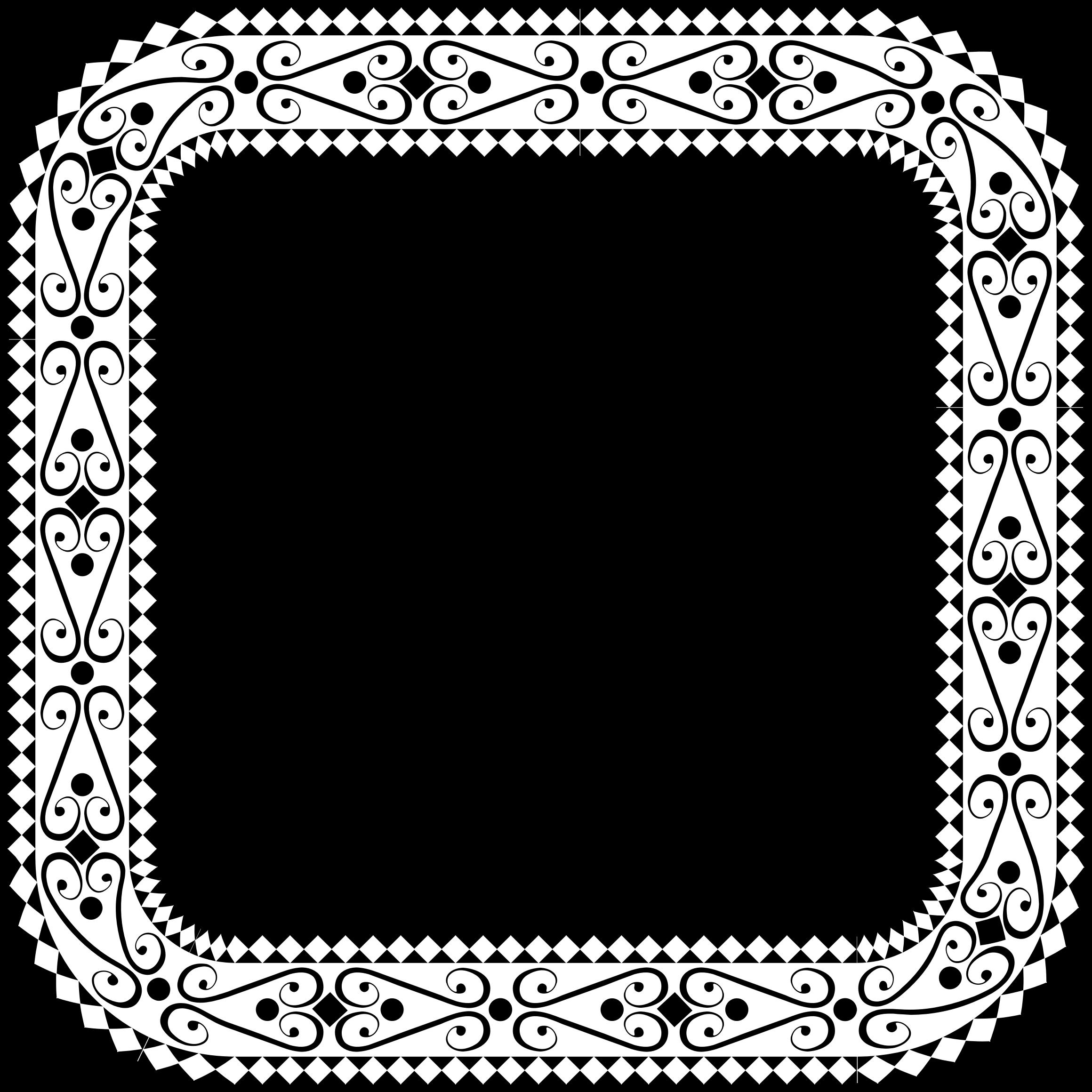 Clipart - Decorative Ornamental Square Frame 2