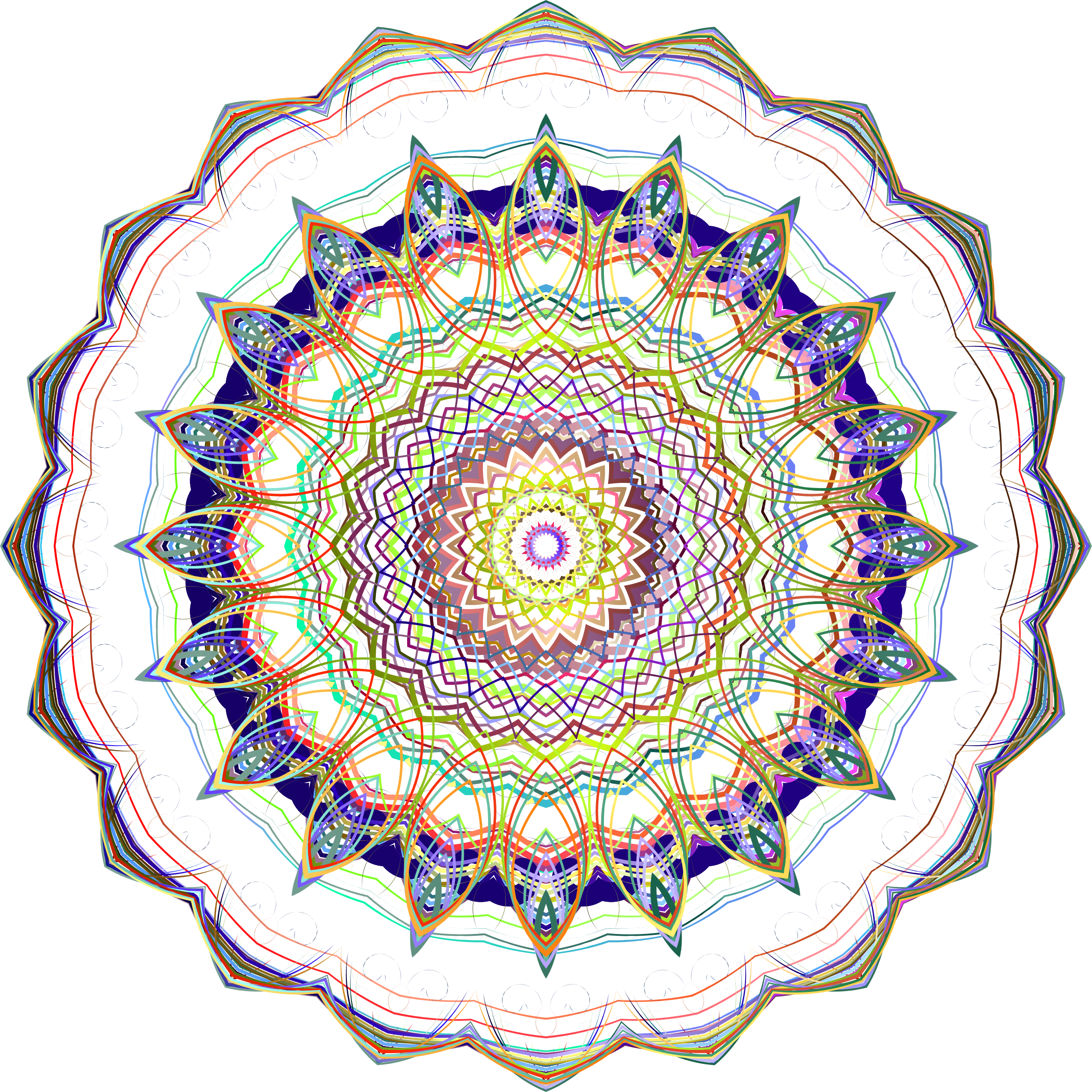 Prismatic Geometric Mandala No Background by GDJ