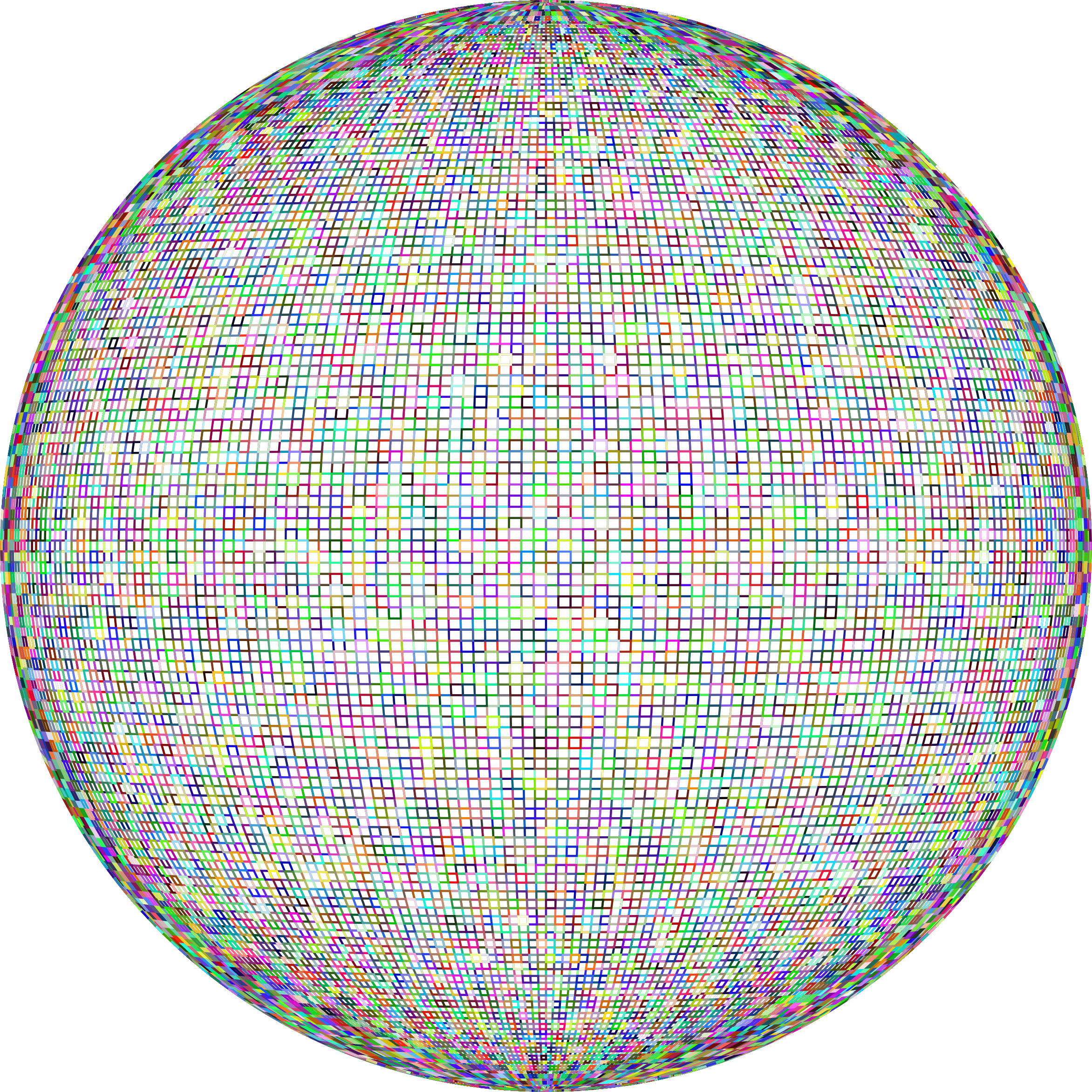 Prismatic Wireframe Sphere No Background by GDJ