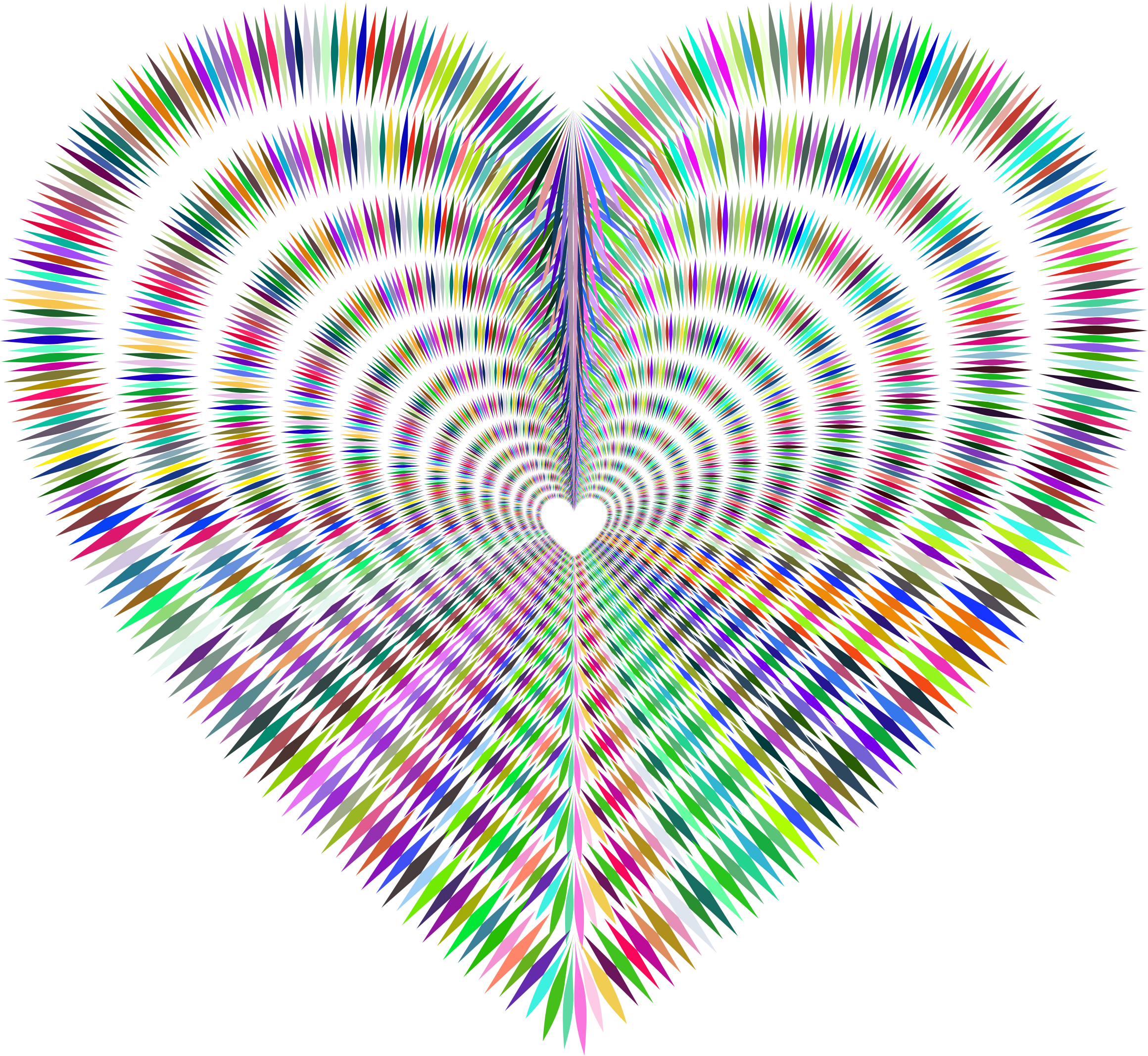 Prismatic Sharp Spiky Heart Tunnel by GDJ