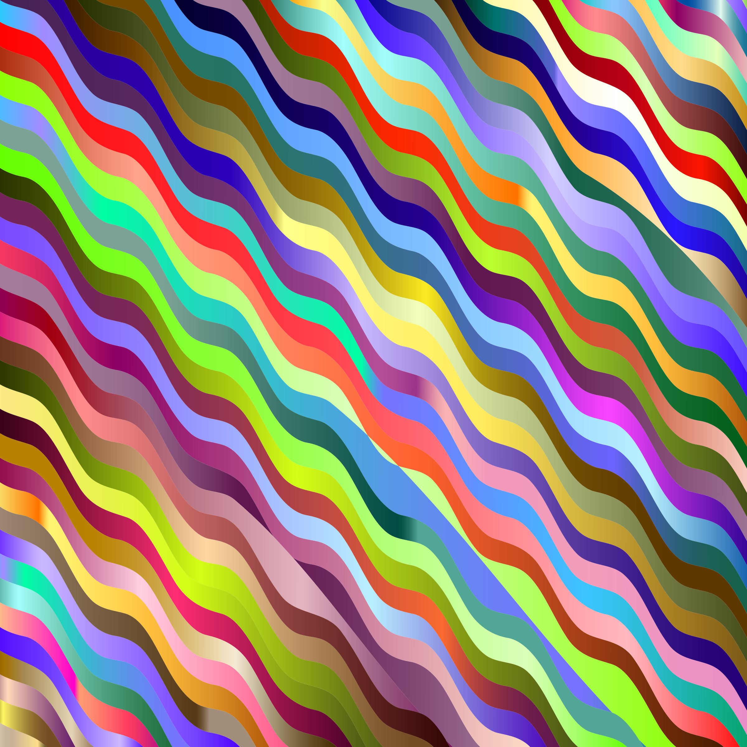 Prismatic Wavy Stripes by GDJ
