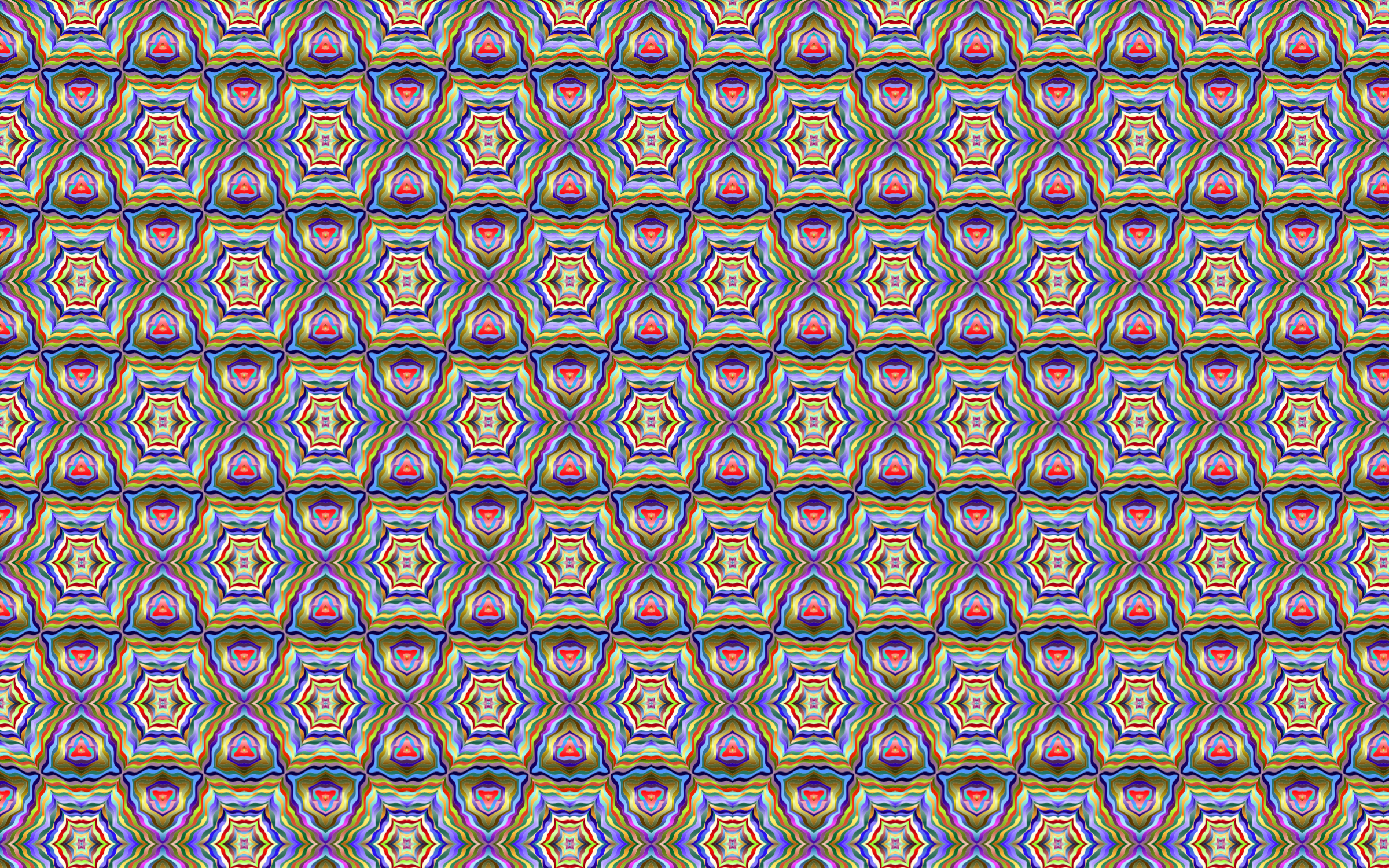 Seamless Psychedelic Geometric Pattern by GDJ
