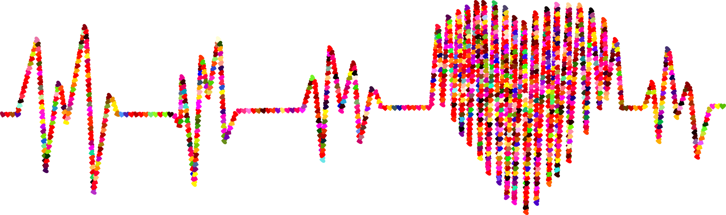 Prismatic Hearts Electrocardiogram by GDJ