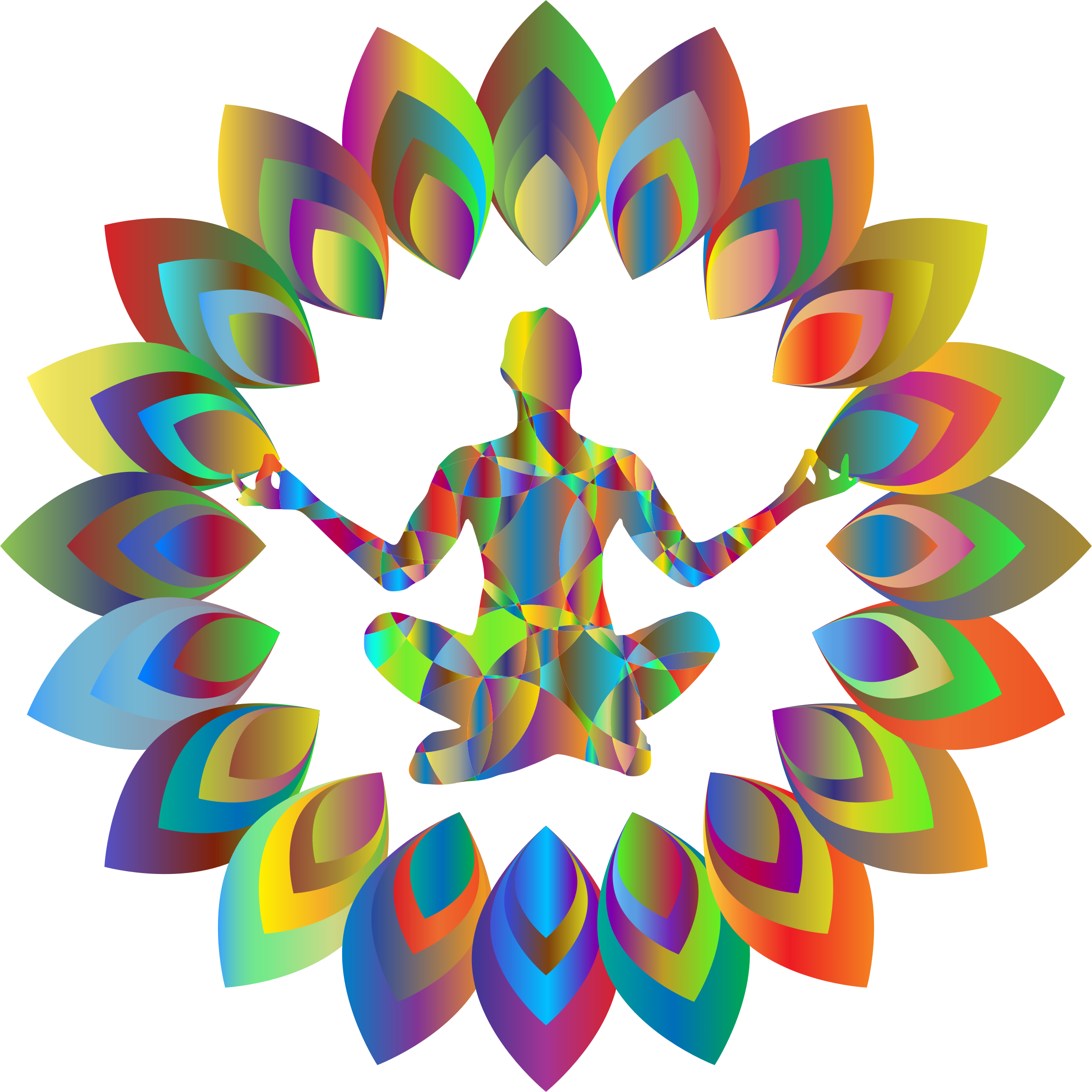 Prismatic Abstract Blossom Yoga Pose by GDJ