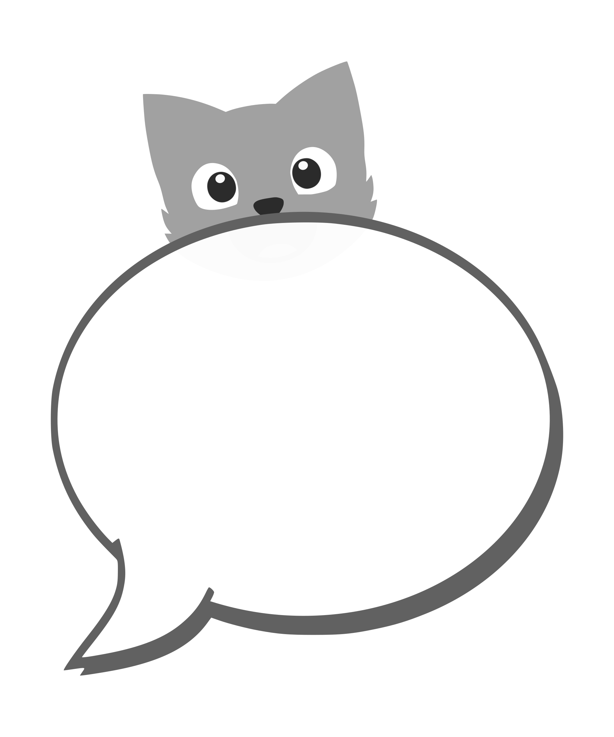 speech balloon with cat by yamachem