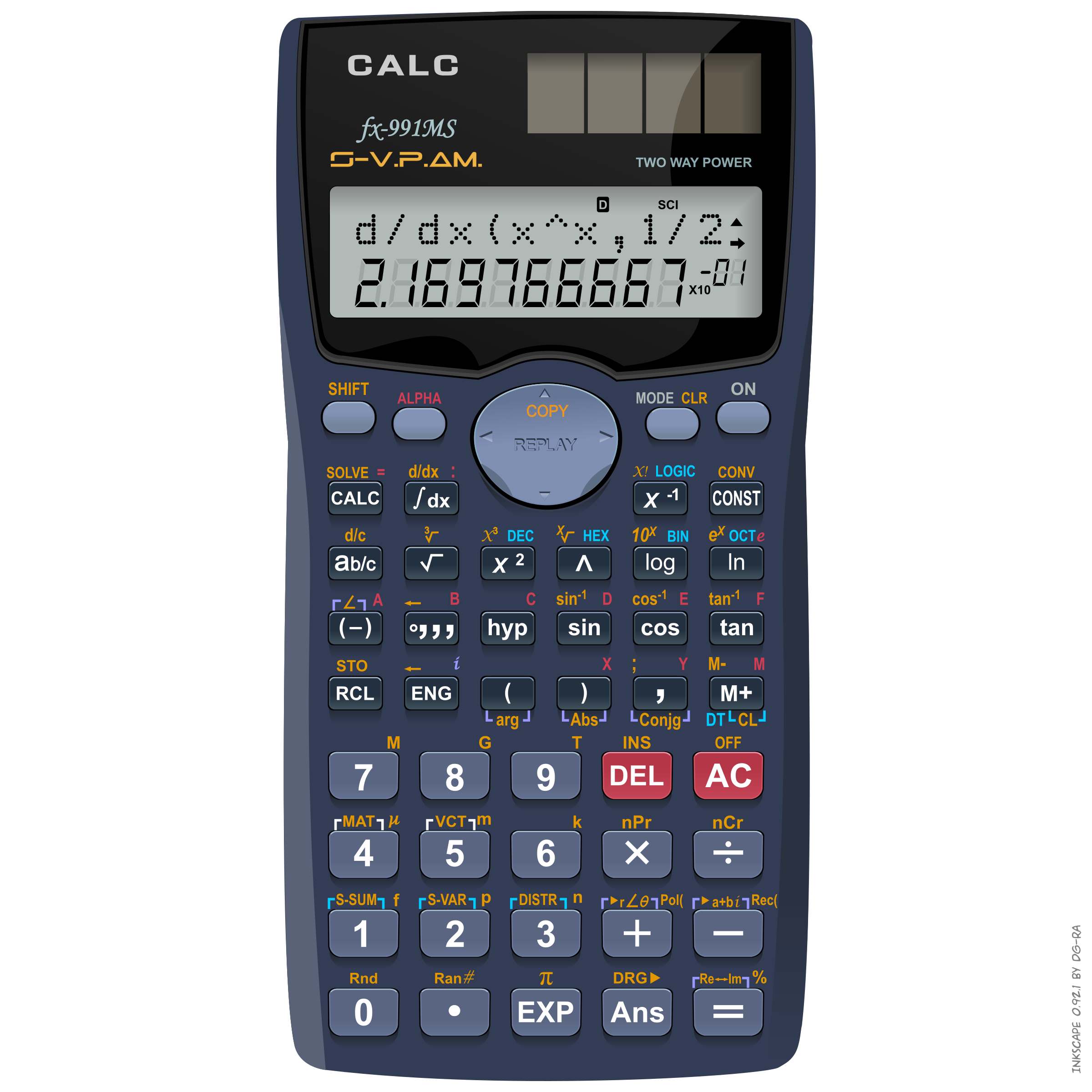 Scientific Solar Calculator – Calc fx-991ms by DG-RA