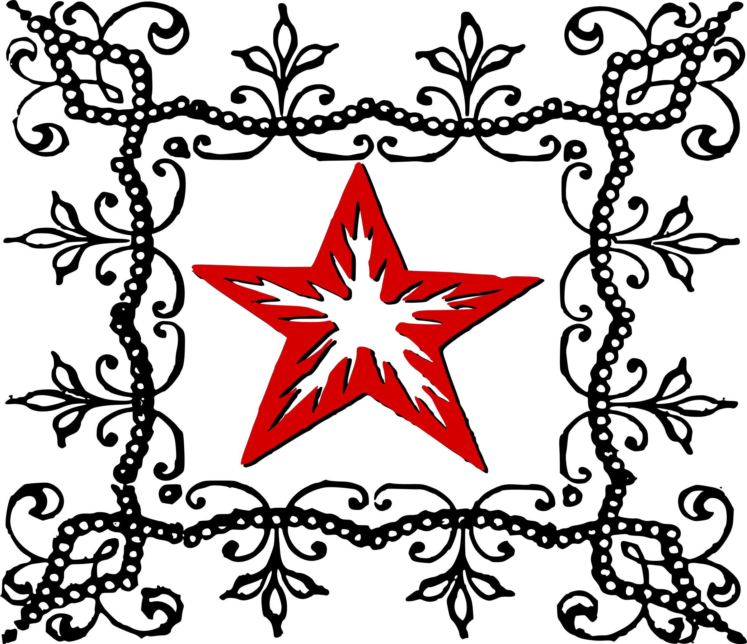 Decorative Red Star by j4p4n
