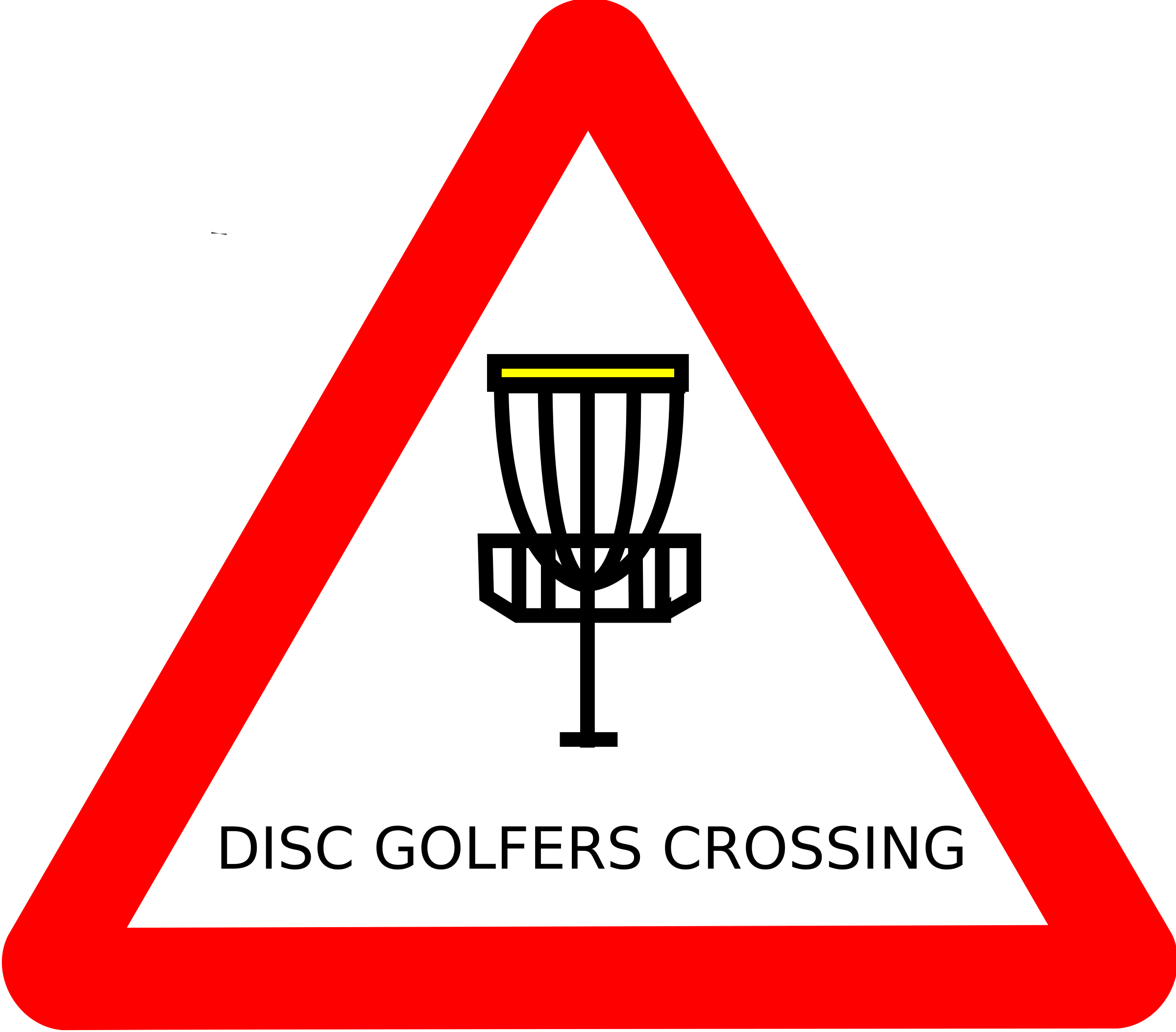 Disc golf roadsign by mat_cutler