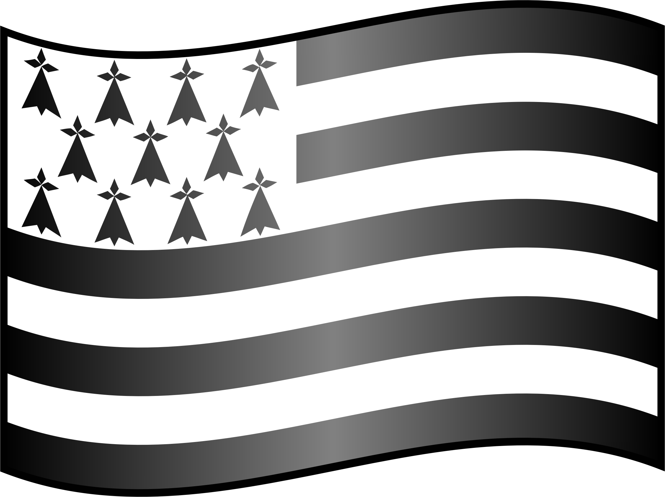Icon Flag of Brittany by GangandInfographie