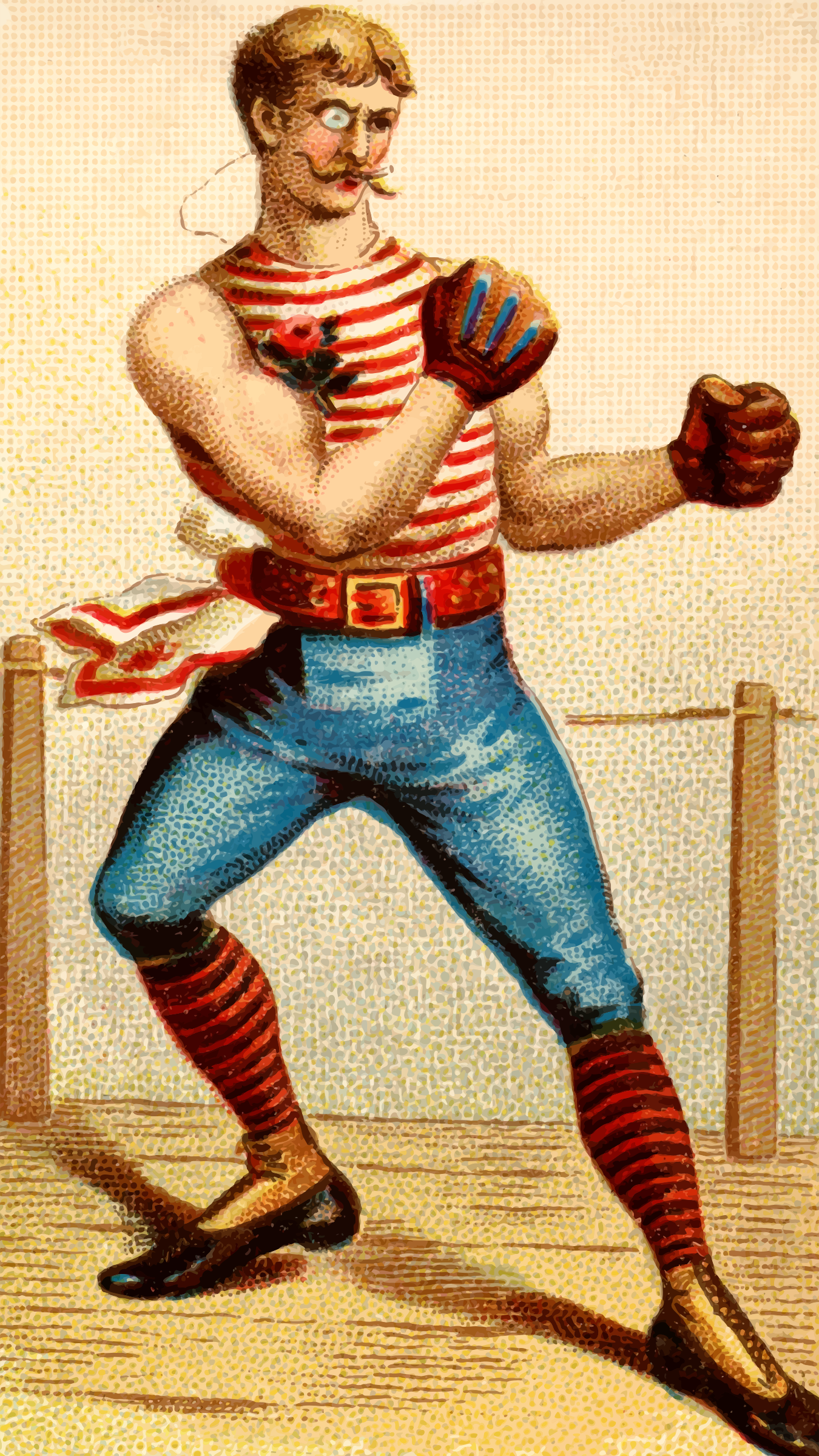 Cigarette card - Boxing by Firkin