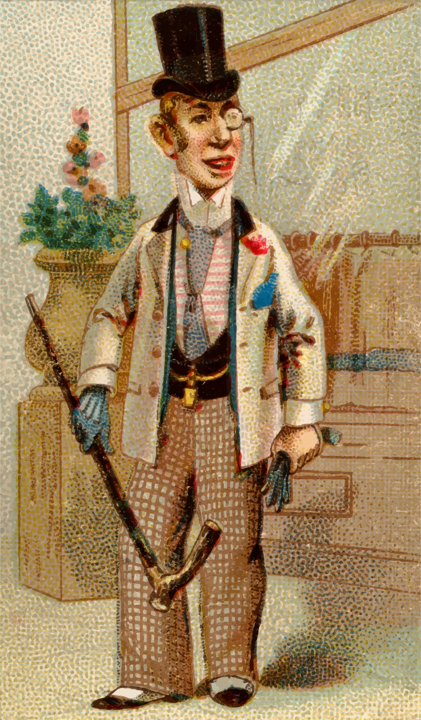 Cigarette card - Hoboken by Firkin