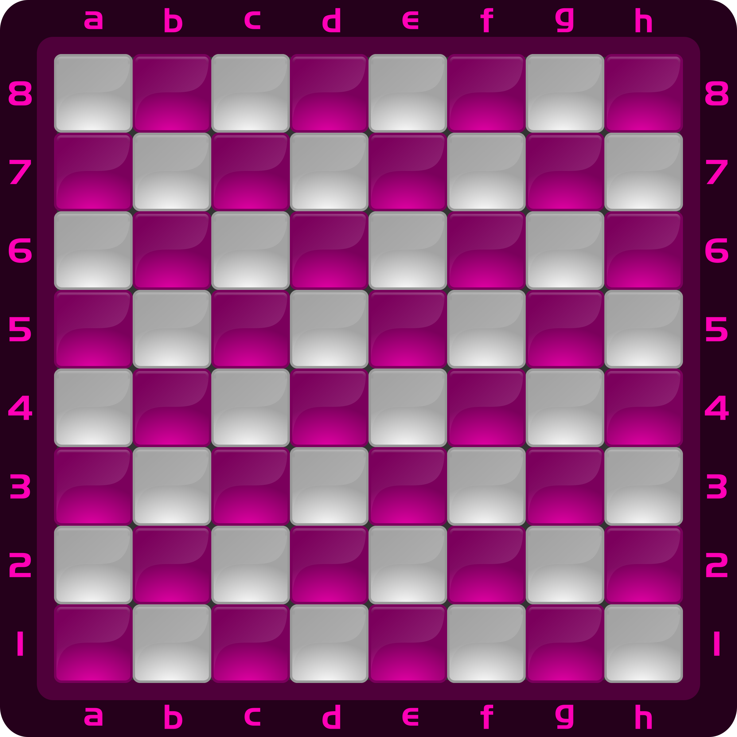 Chessboard Glossy Squares - fuchsia by DG-RA