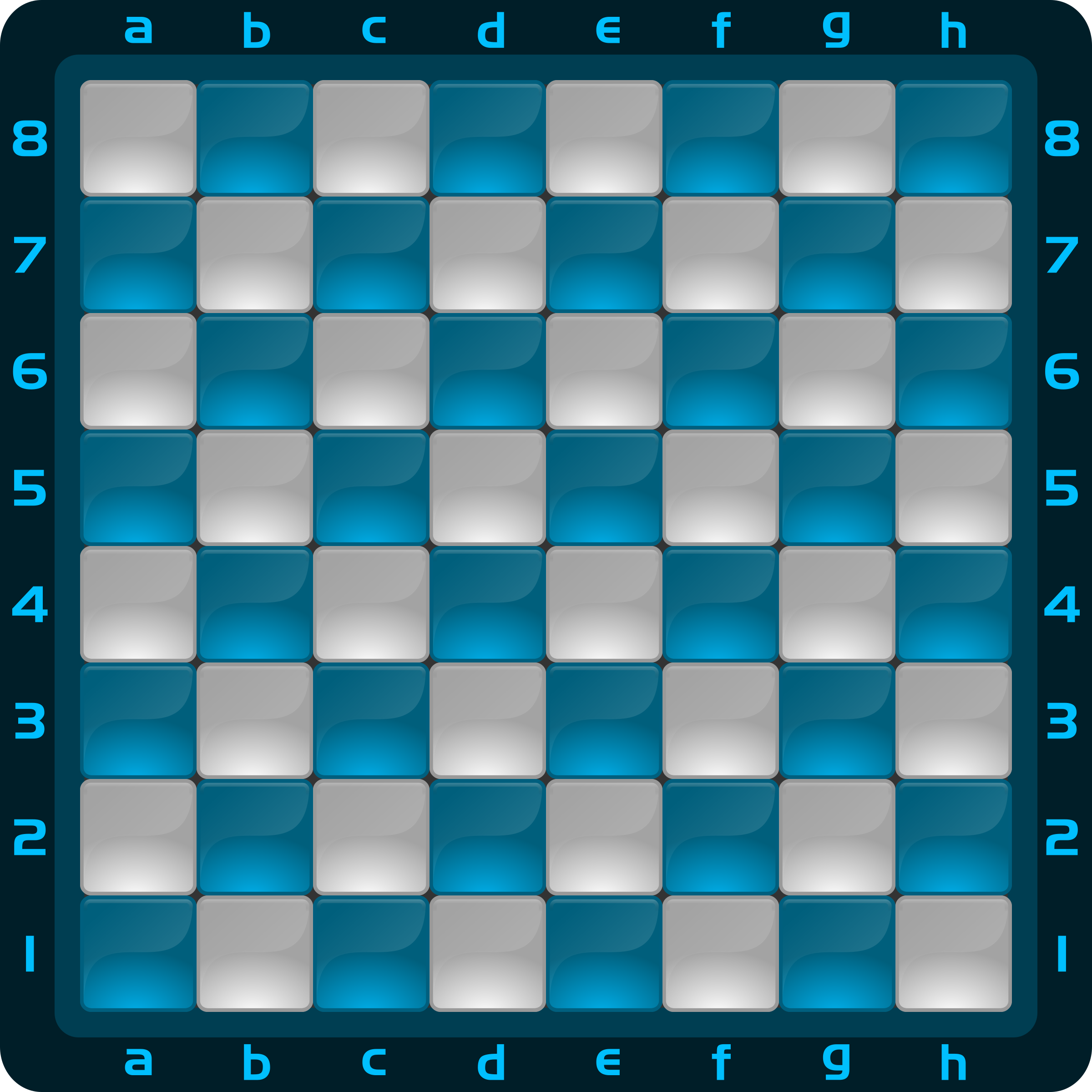 Chessboard Glossy Squares - Light Blue by DG-RA