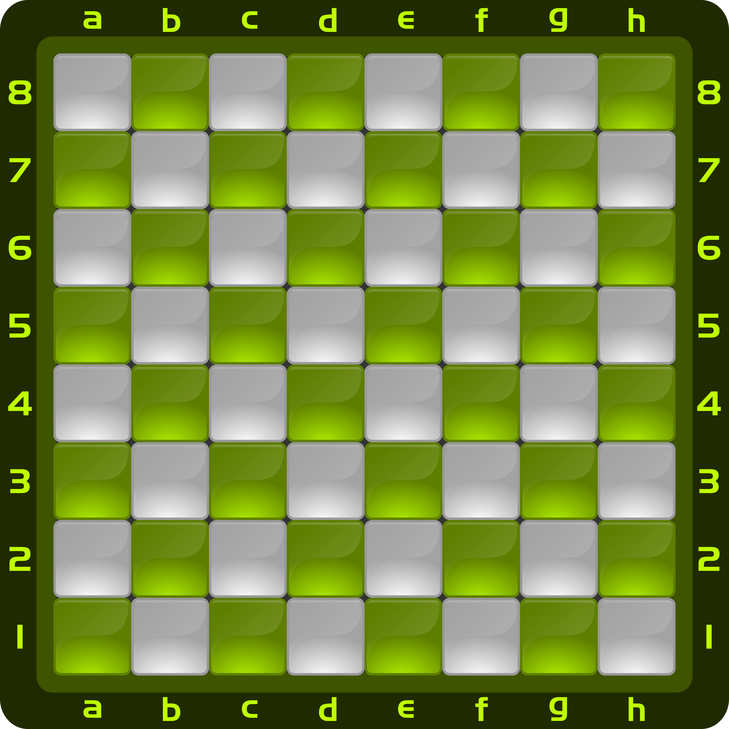Chessboard Glossy Squares - Light Green by DG-RA