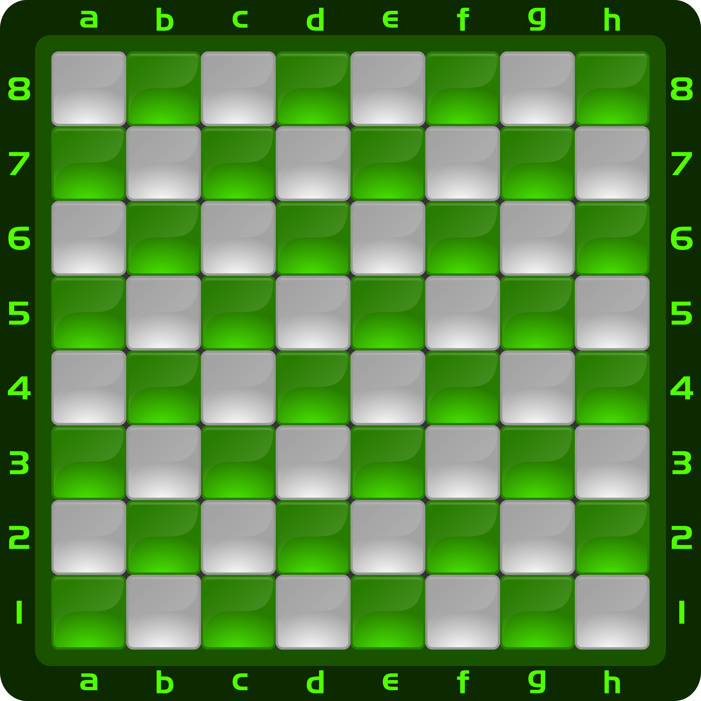 Chessboard Glossy Squares - Green by DG-RA