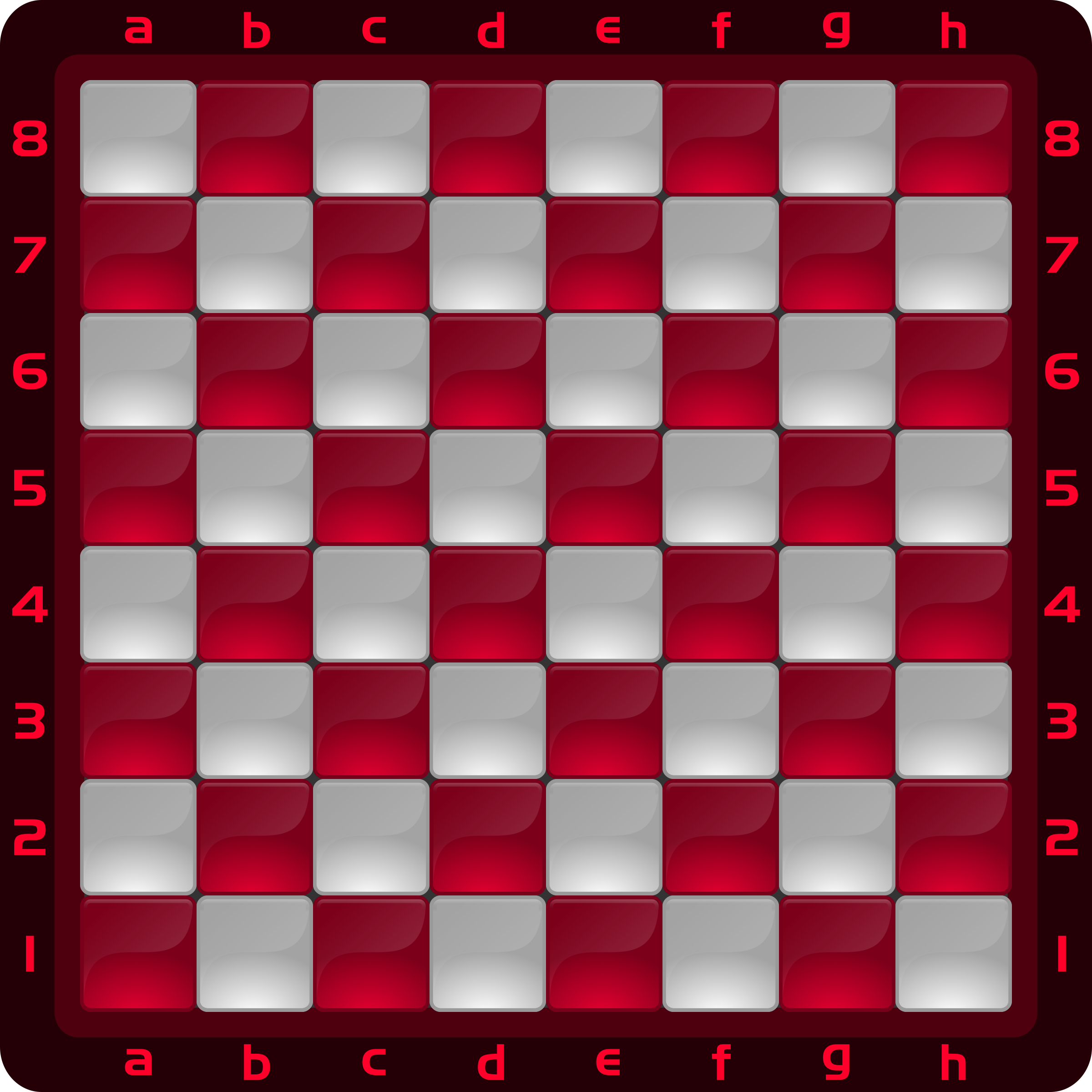 Chessboard Glossy Squares - Red by DG-RA