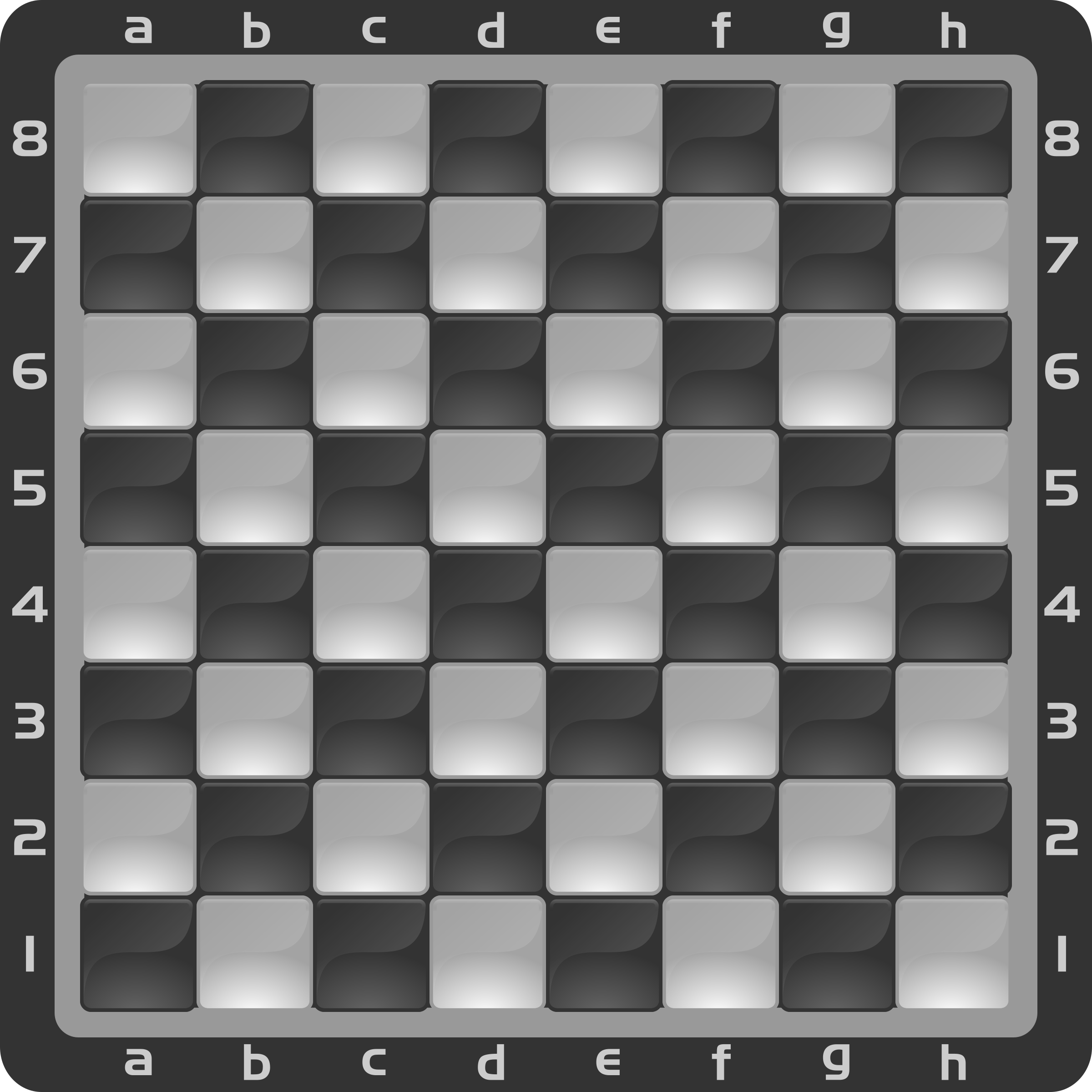 Chessboard Glossy Squares - Black by DG-RA