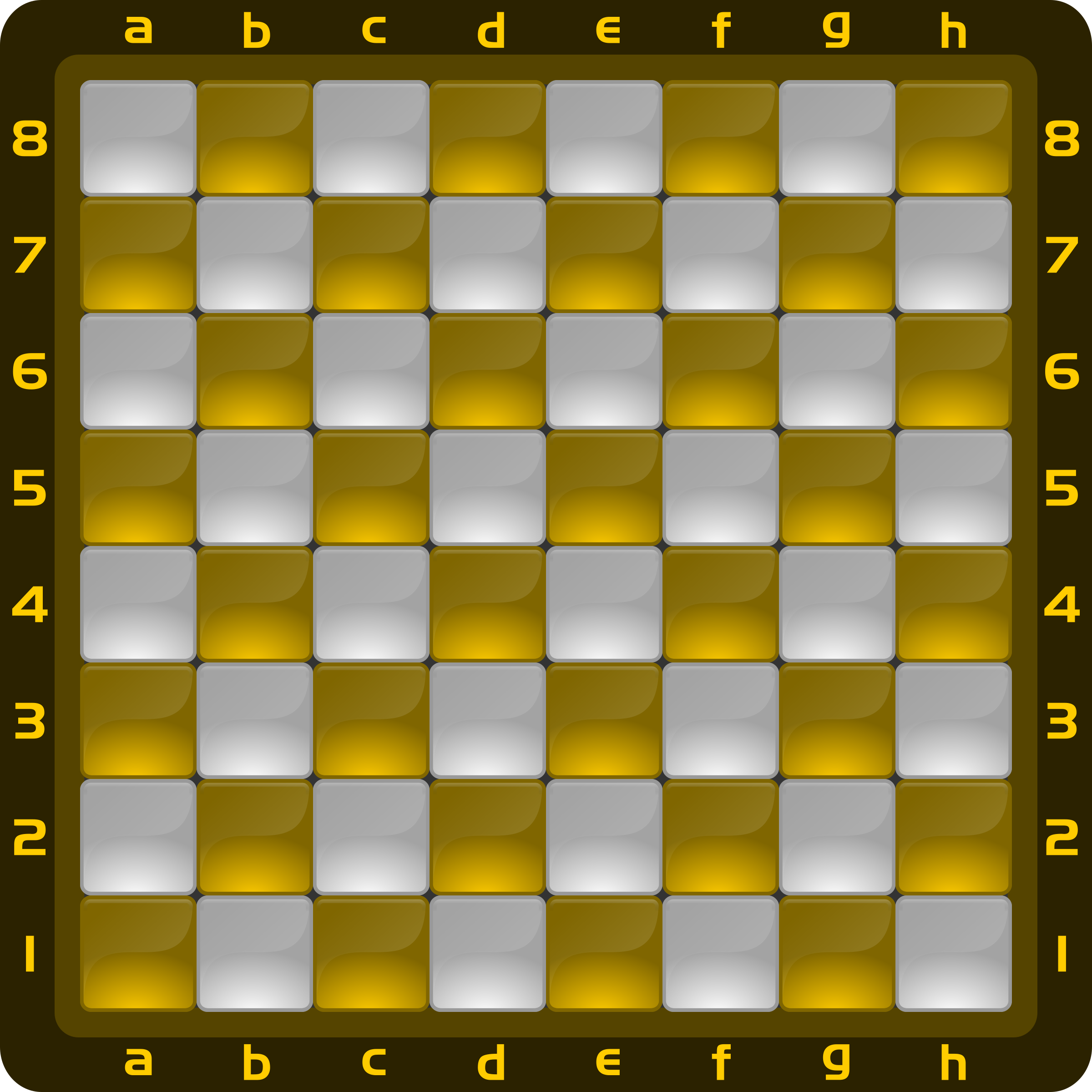 Chessboard Glossy Squares - Honey by DG-RA