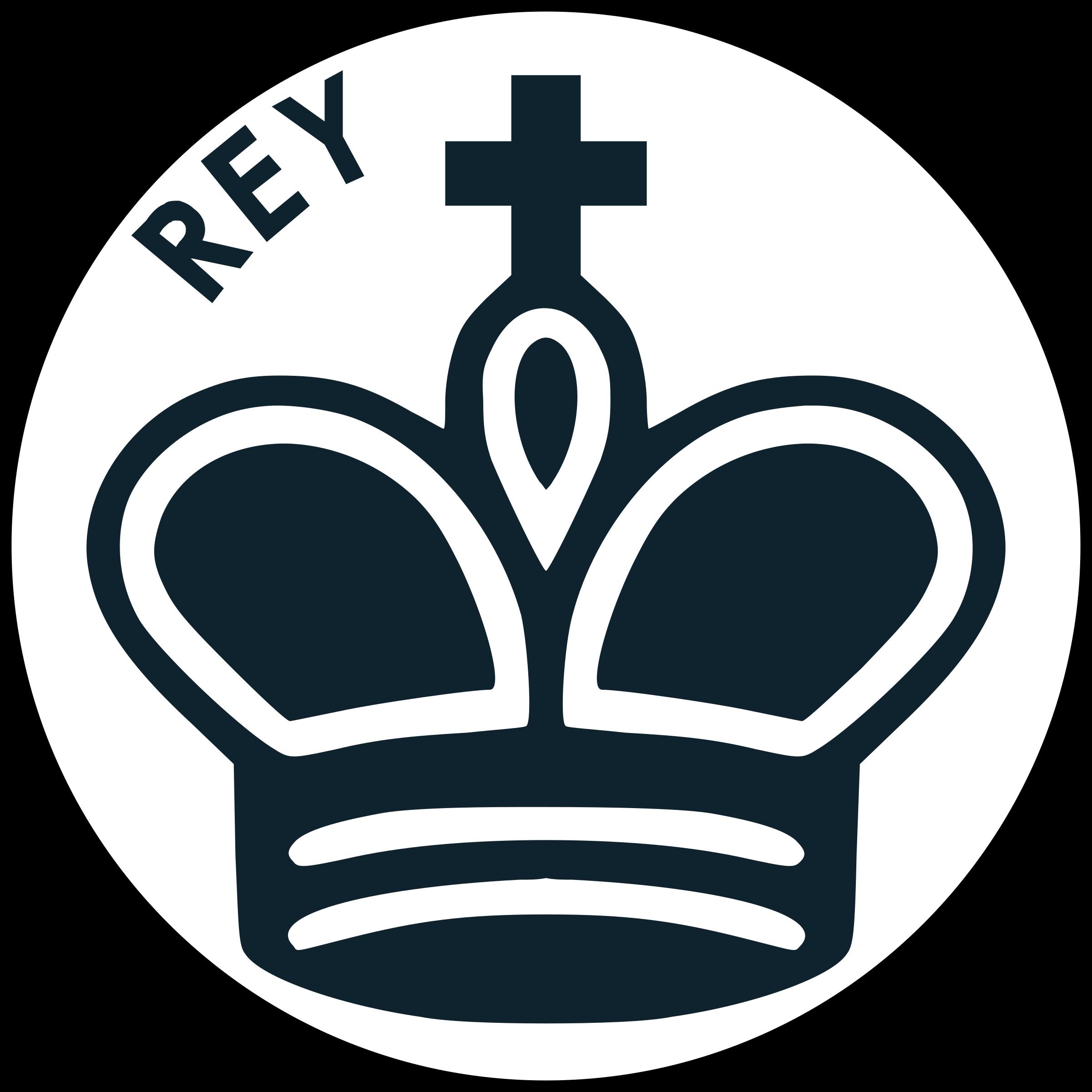Pieza de Ajedrez con Nombre - Rey Negro