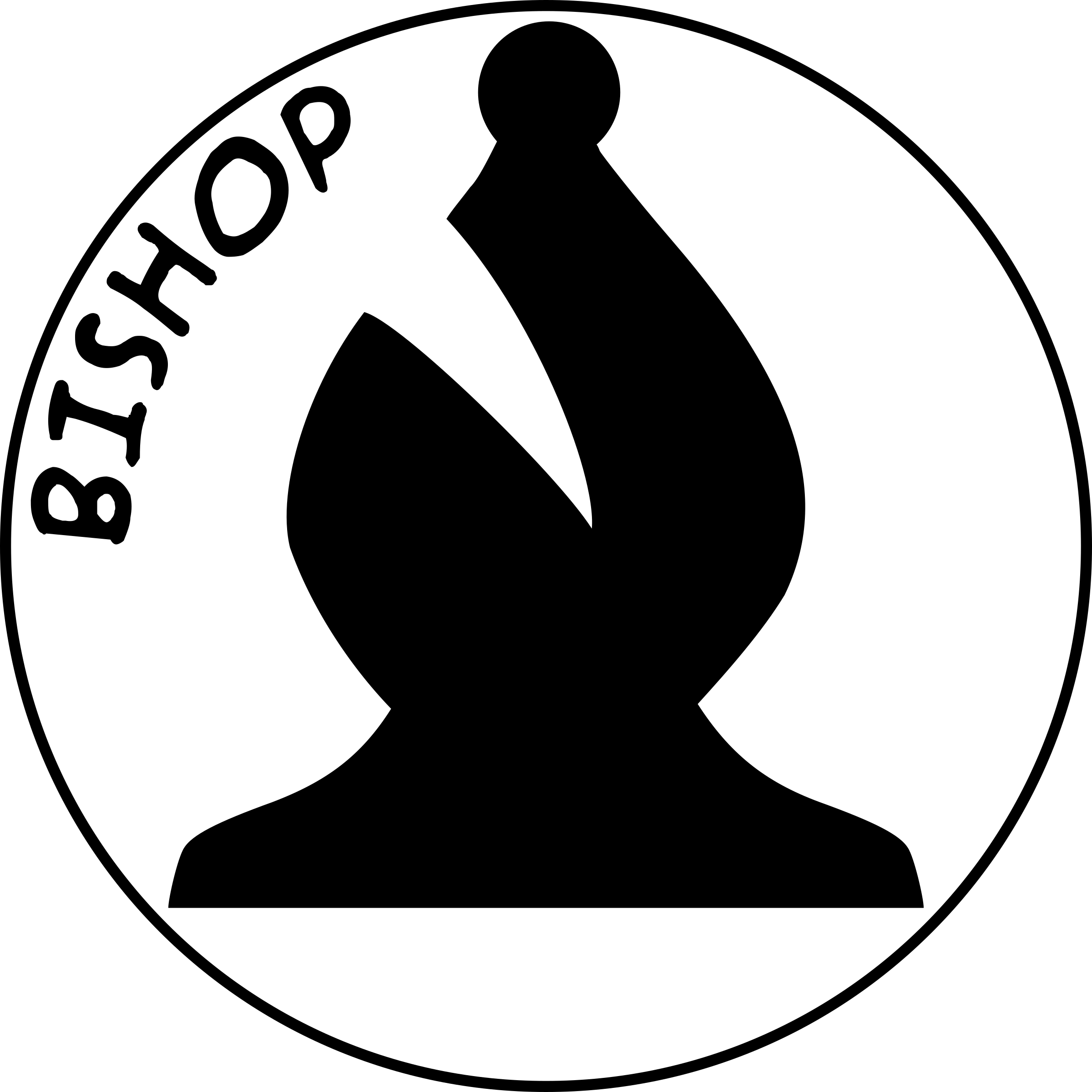 Chess Piece with Name - Black Bishop by DG-RA
