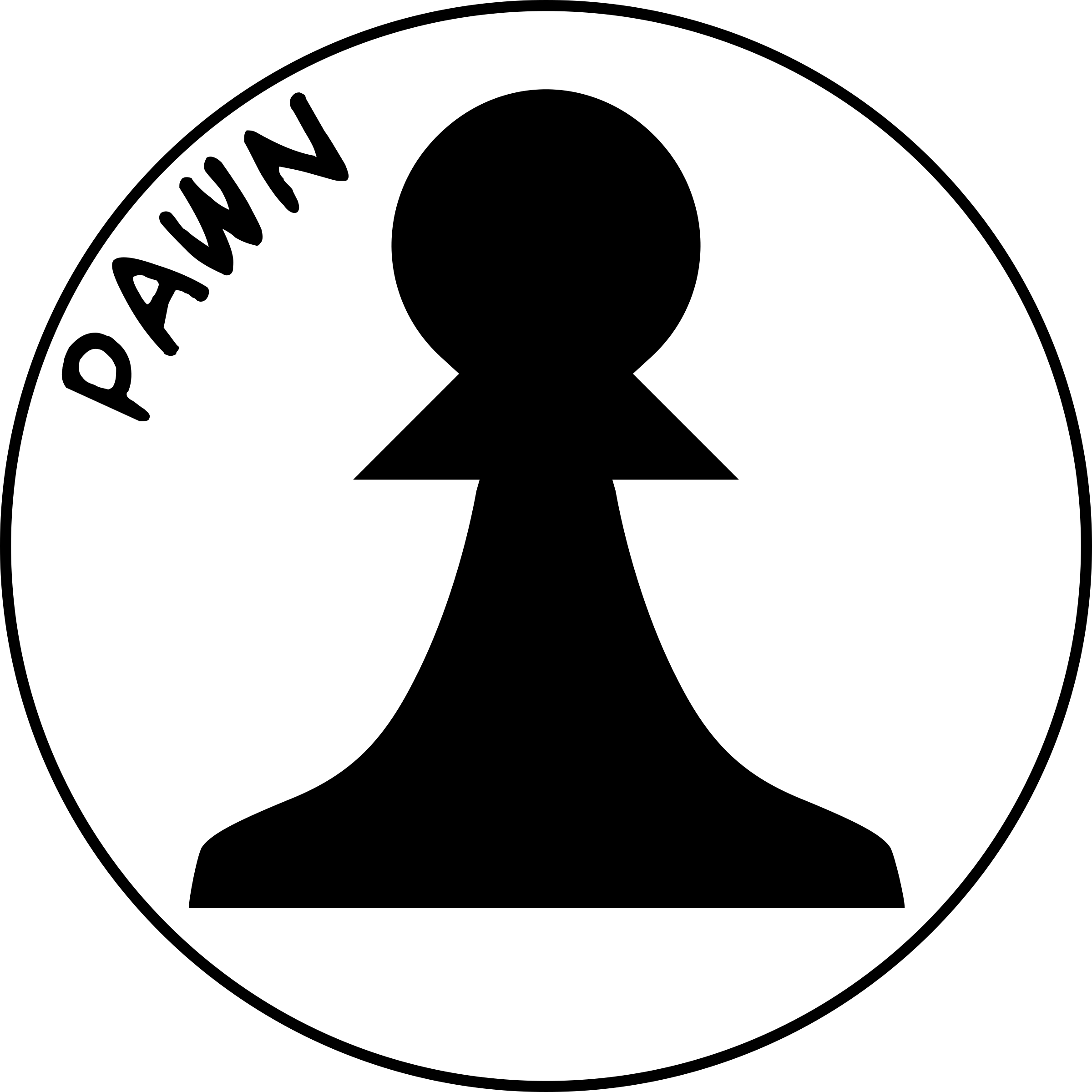 Chess Piece with Name - Black Pawn by DG-RA