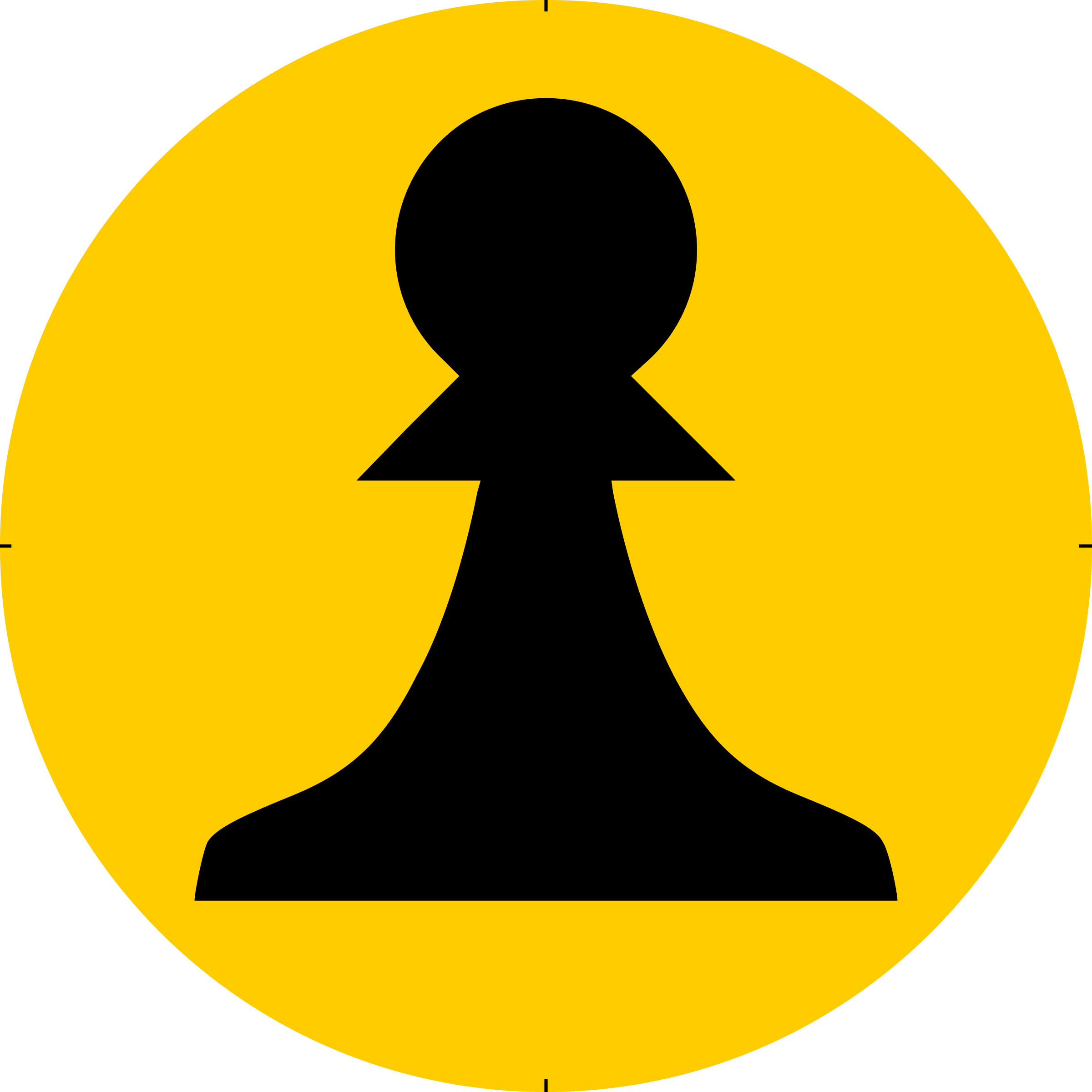 Chess Piece Symbol – Black Pawn – Peón Negro by DG-RA