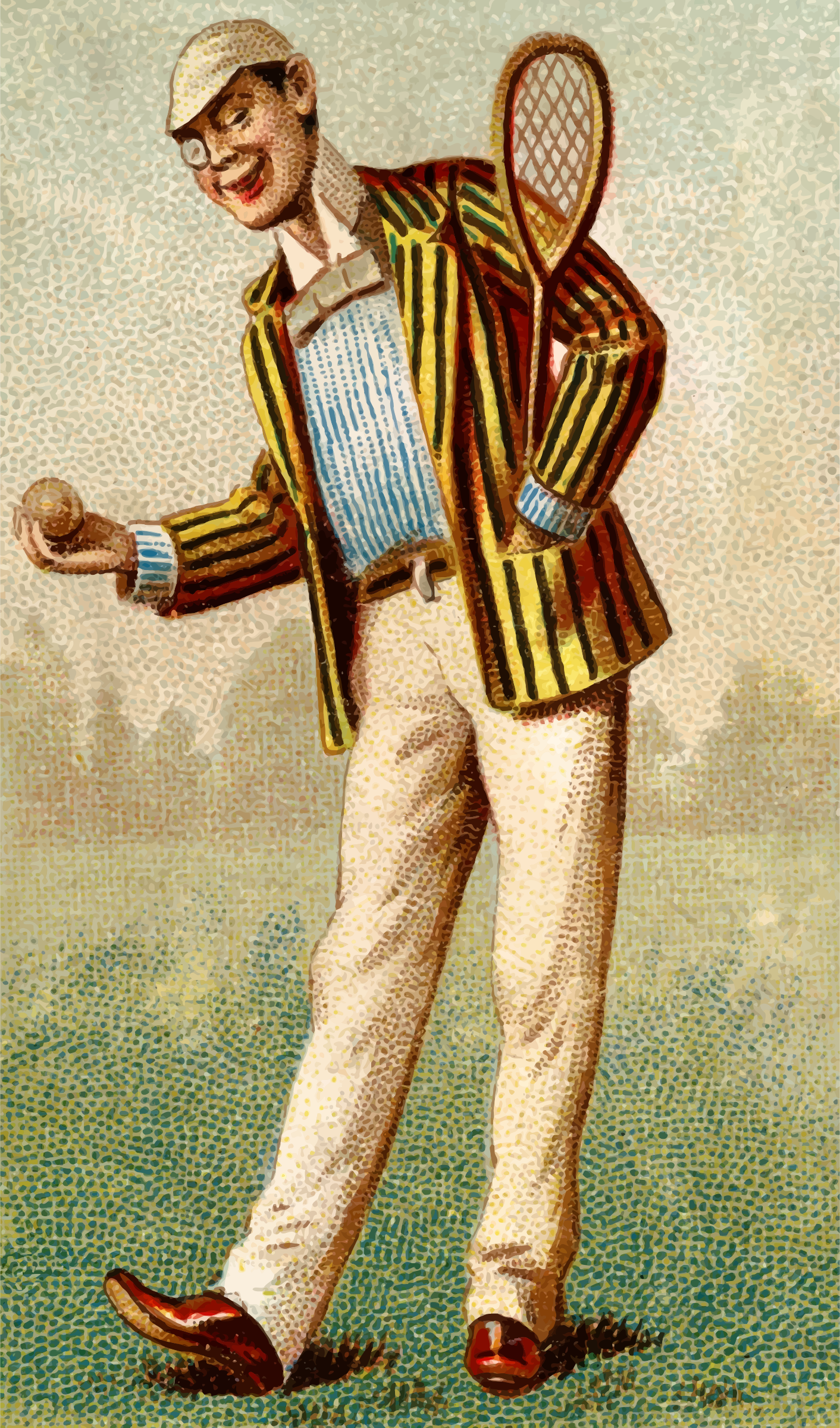 Cigarette card - Tennis by Firkin