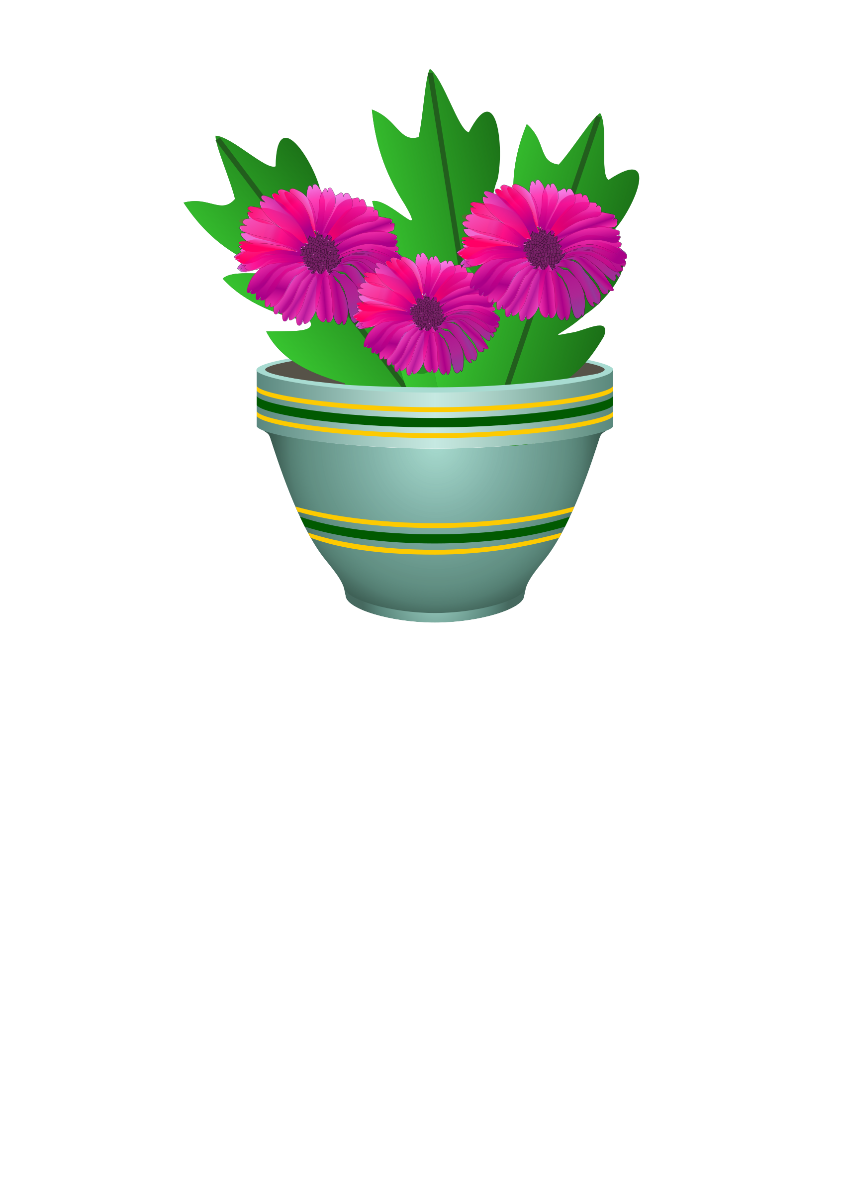 purple flower pot by cg4share