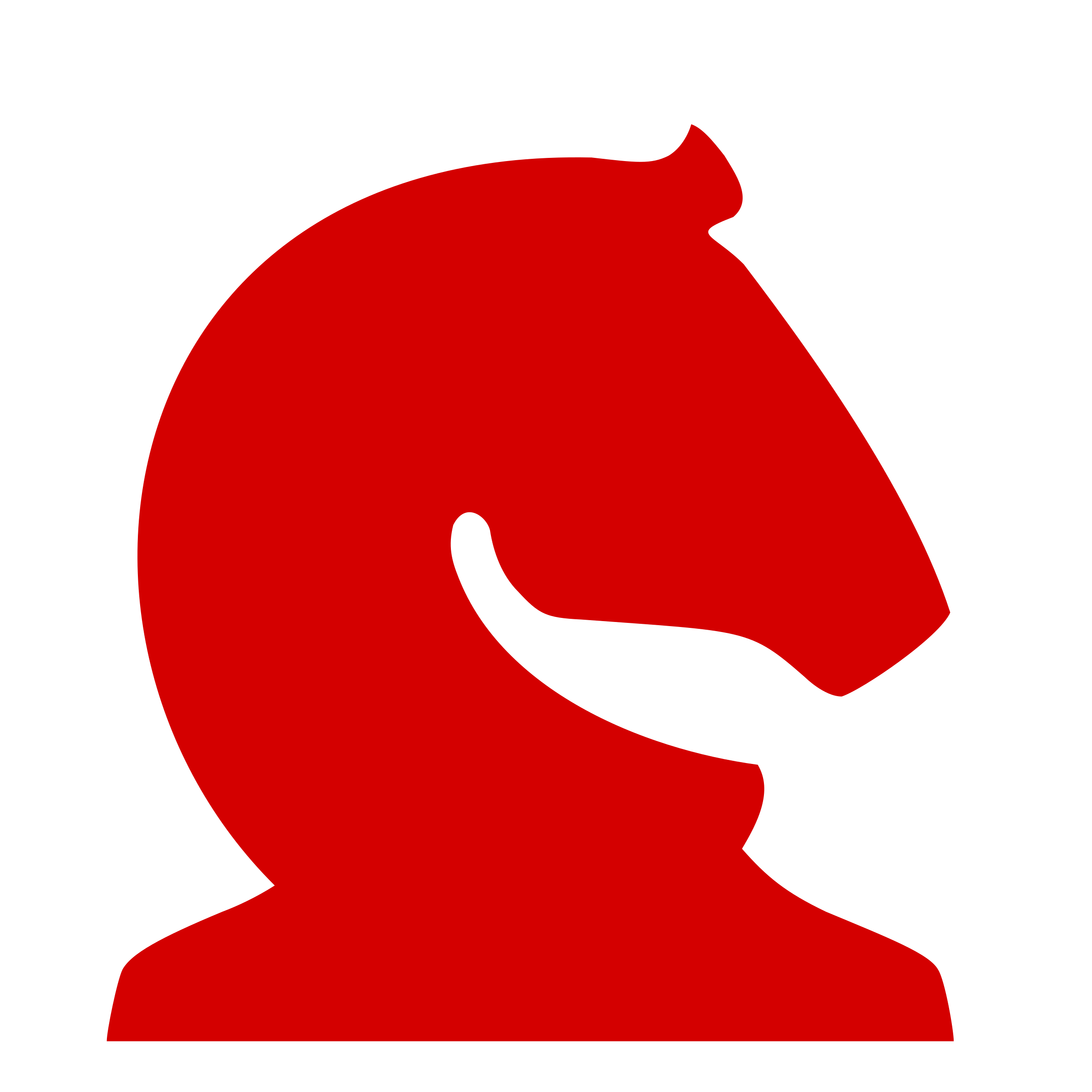 Chess Piece Silhouette - Red Knight / Caballo Rojo by DG-RA