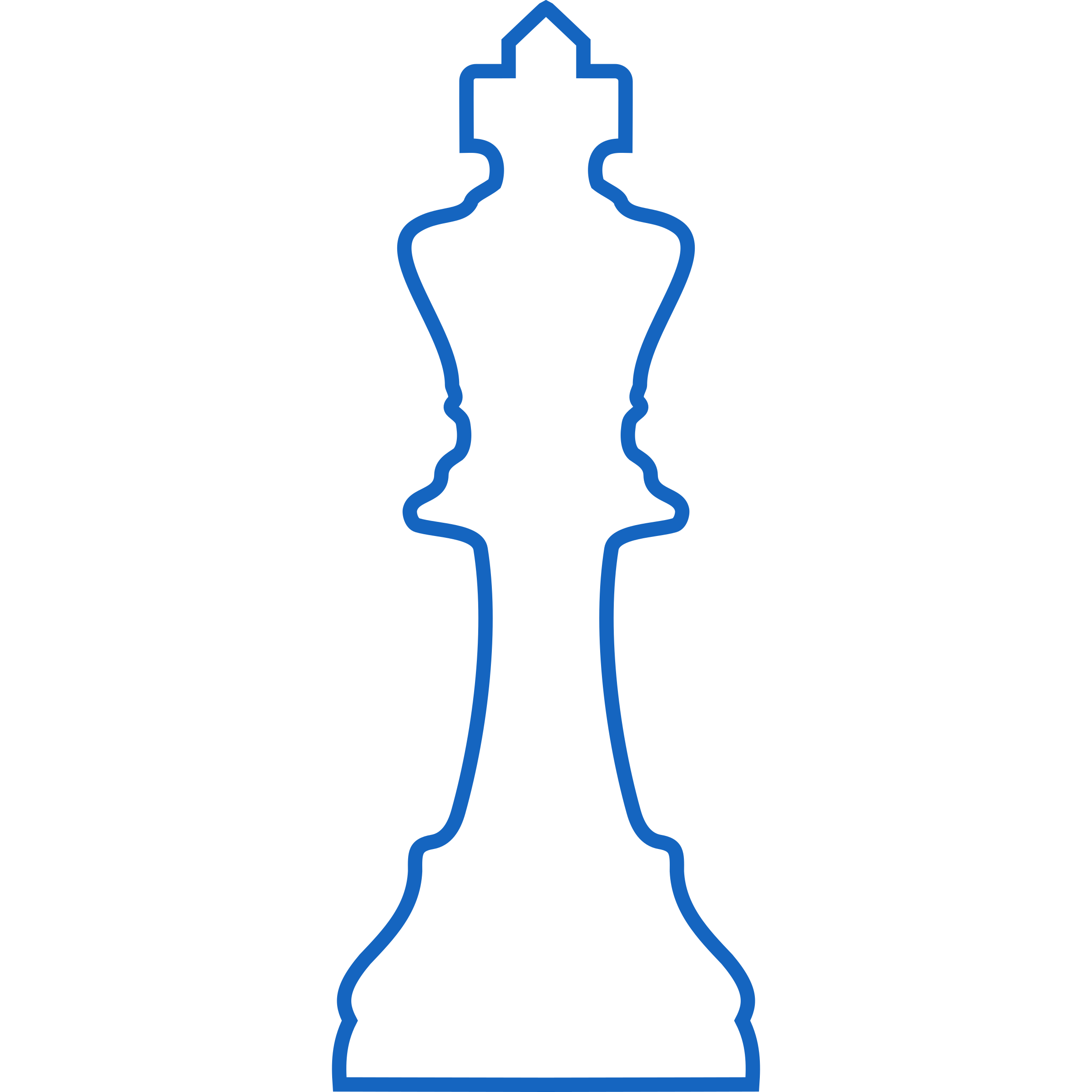 White Silhouette Staunton Chess Piece – King / Rey by DG-RA
