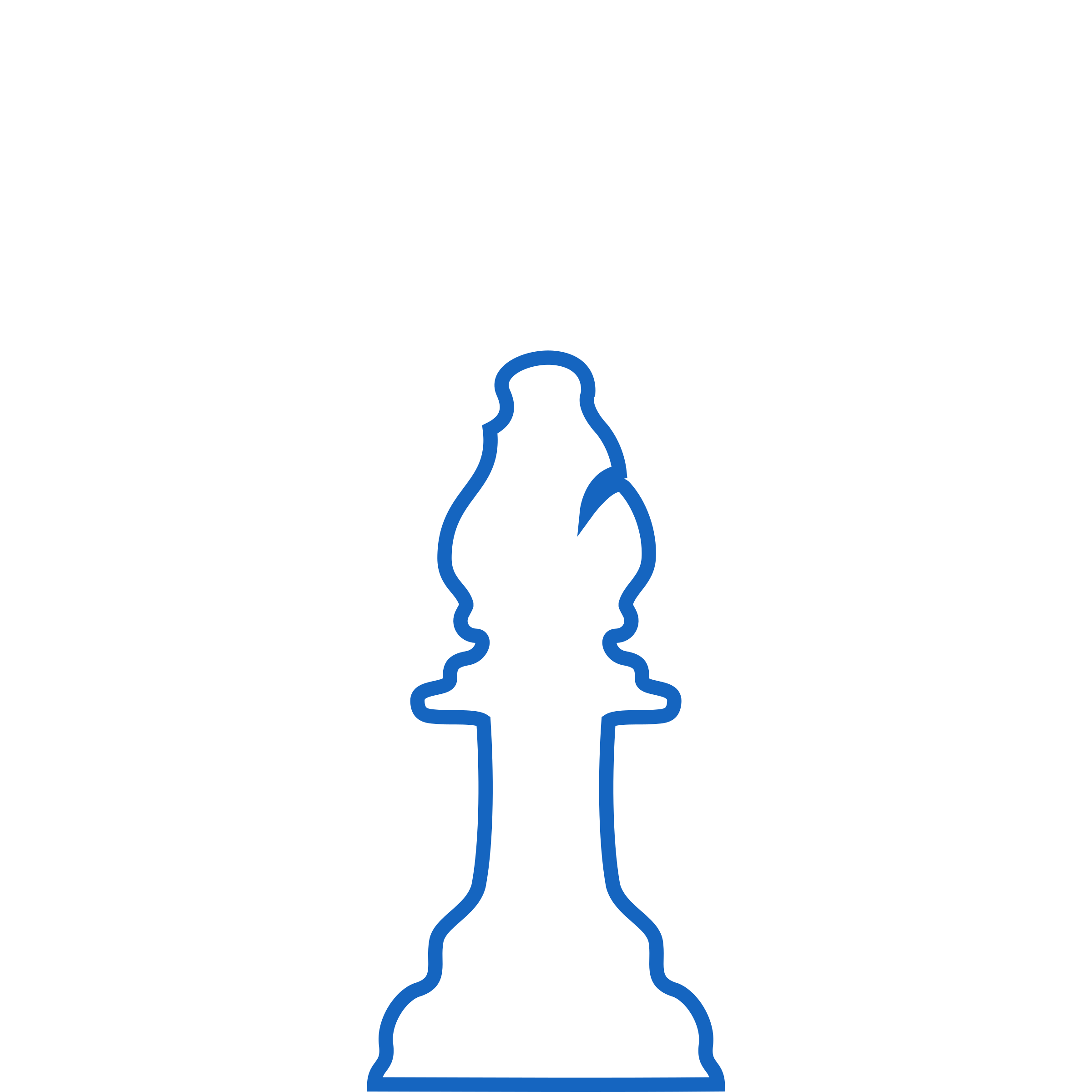 White Silhouette Staunton Chess Piece – Bishop / Alfil by DG-RA