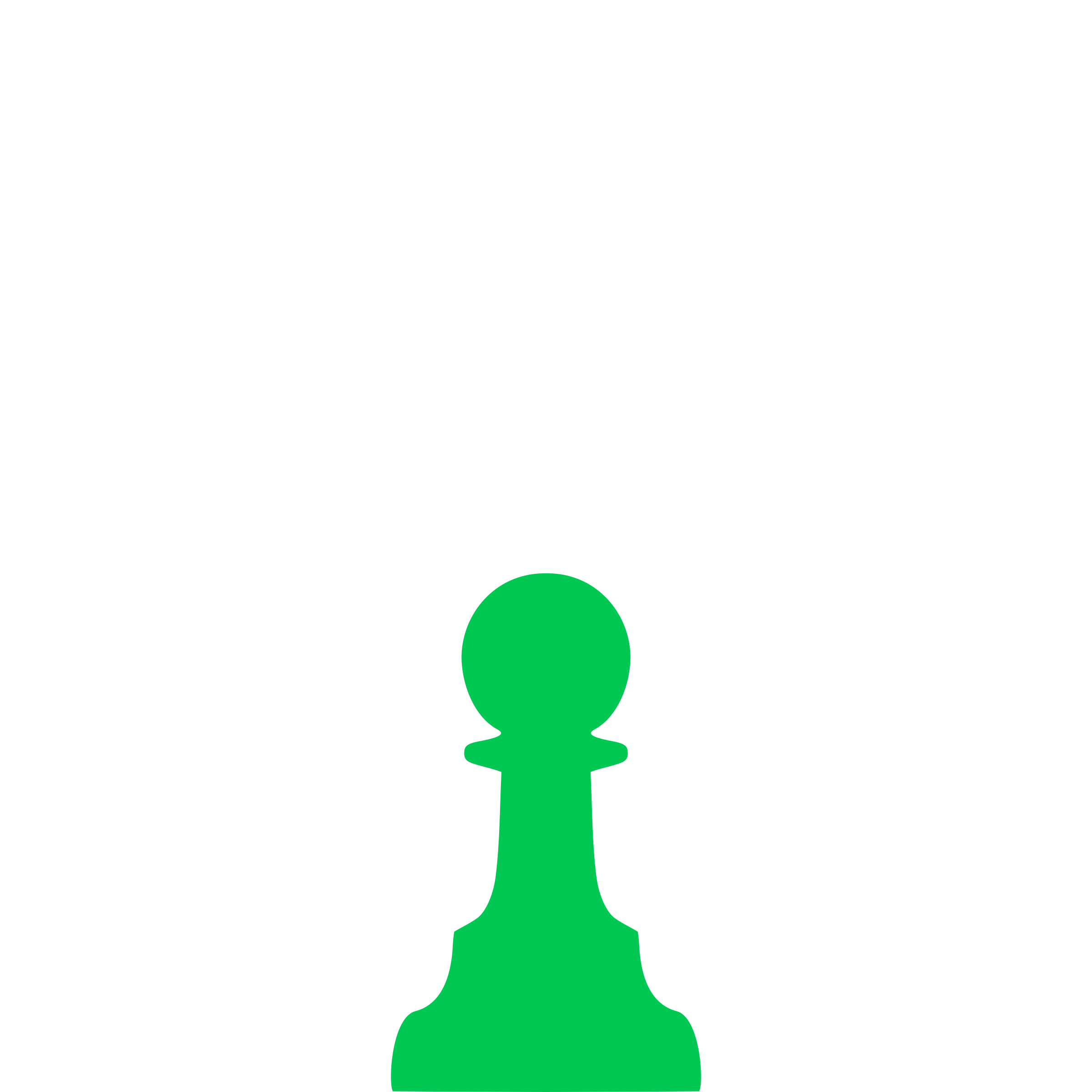 Silhouette Staunton Chess Piece – Pawn / Peón by DG-RA