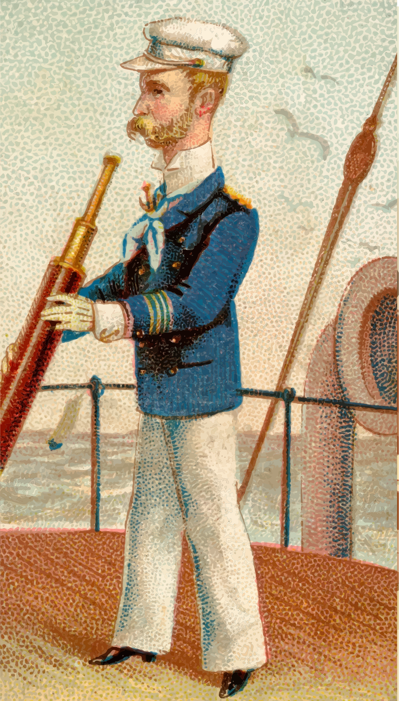 Cigarette card - Yachting by Firkin