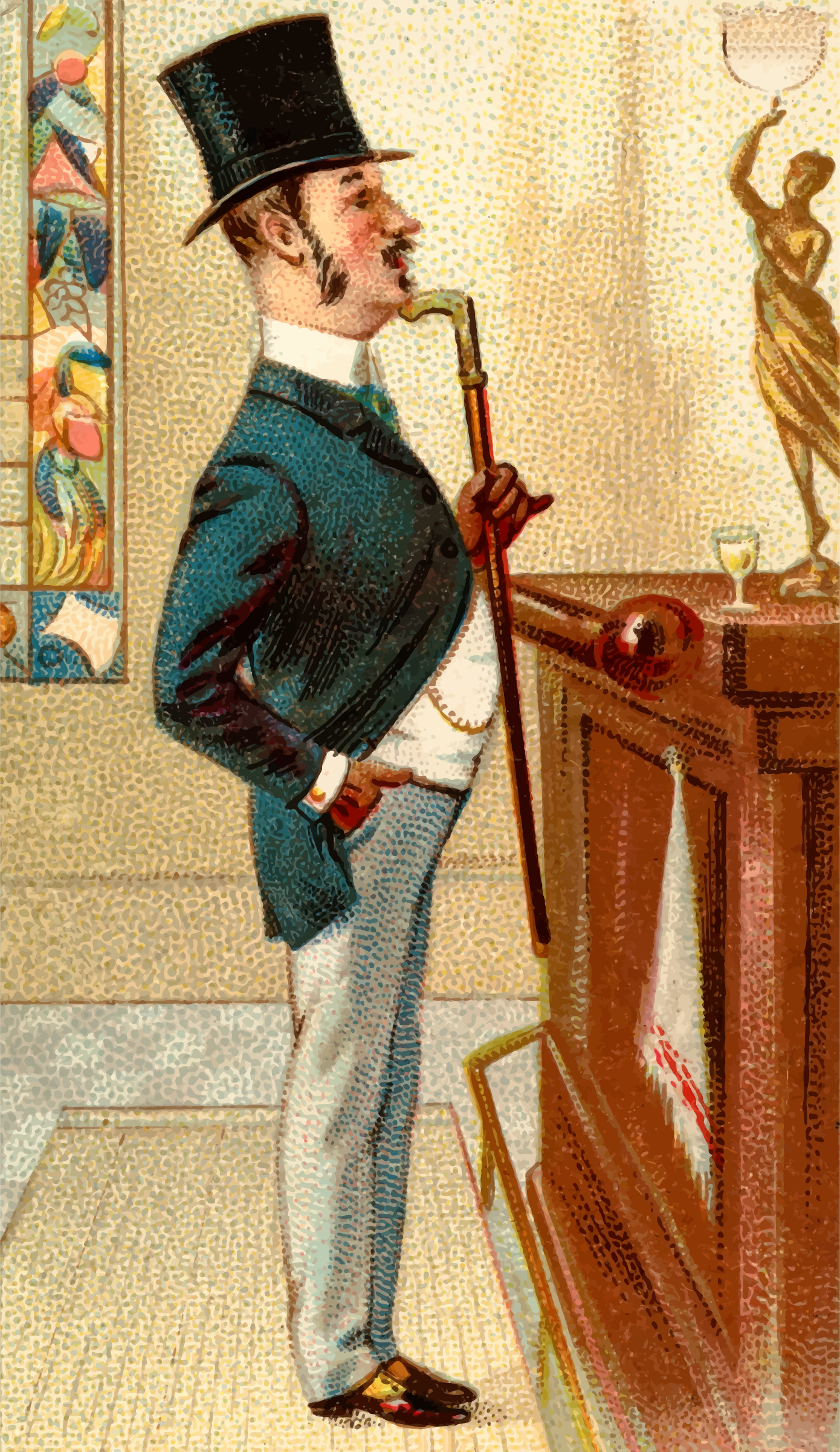 Cigarette card - Hoffman House by Firkin