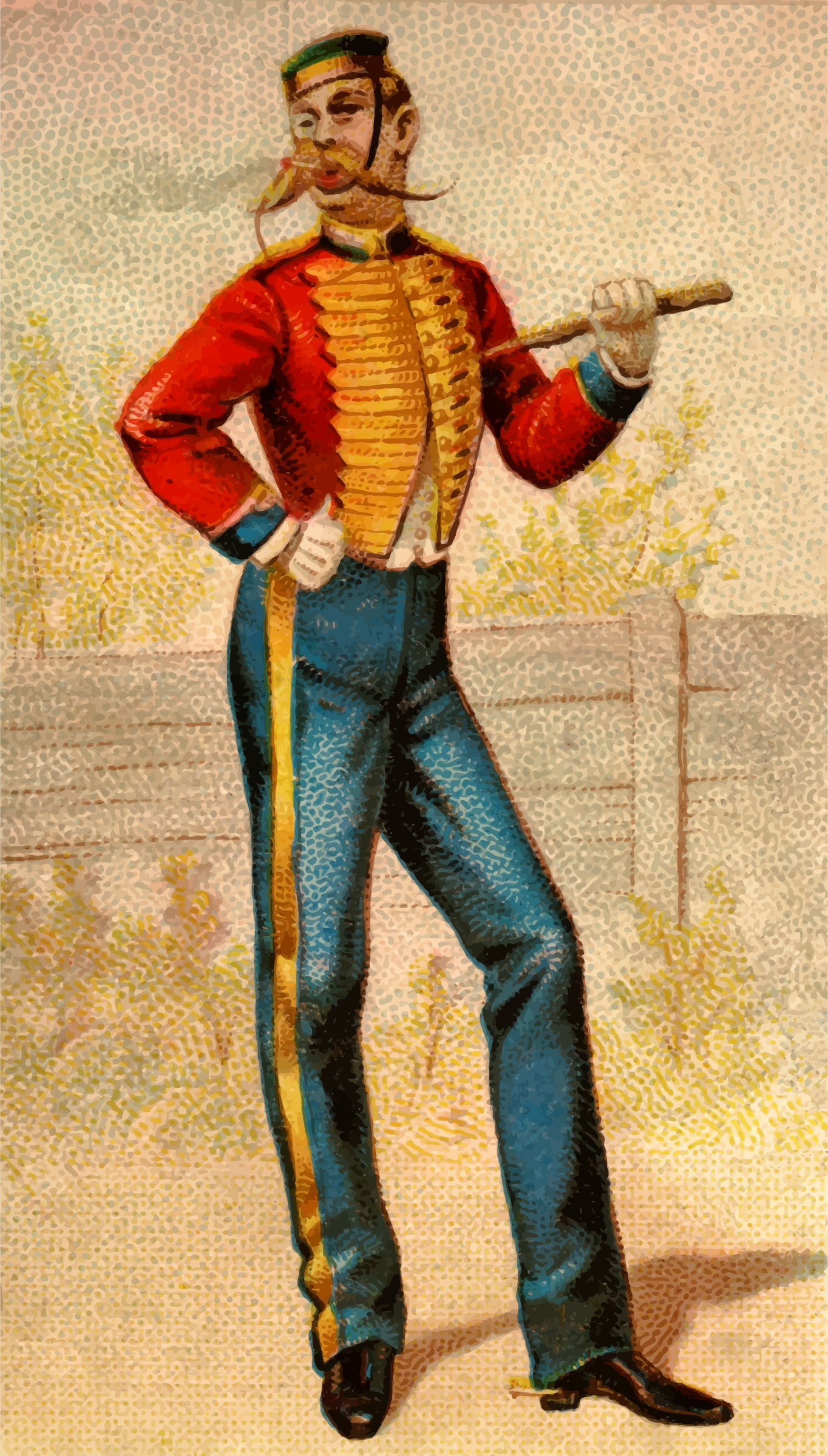 Cigarette card - English Horseguards by Firkin