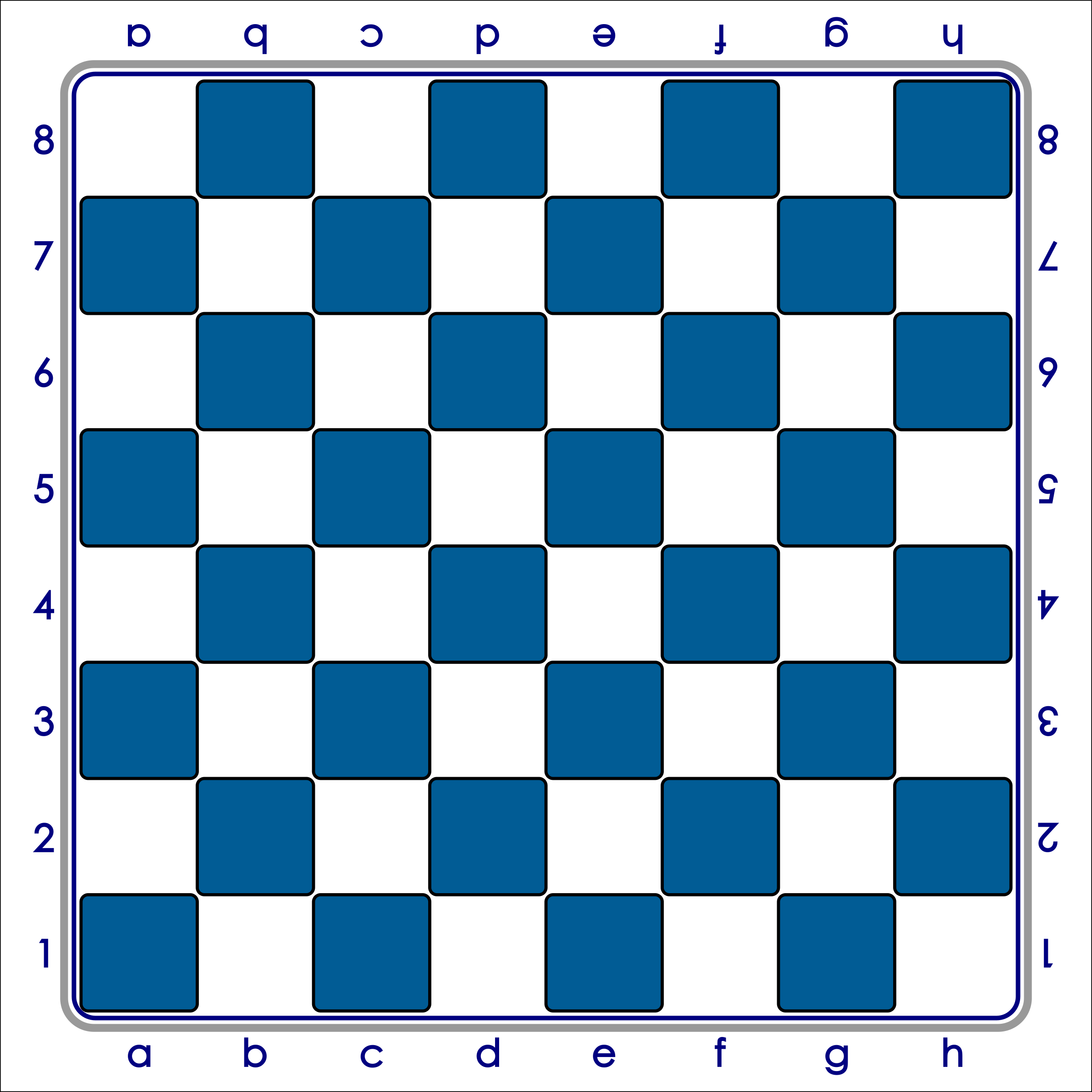 Standard Chess Board - Blue / Tablero de Ajedrez - Azul by DG-RA