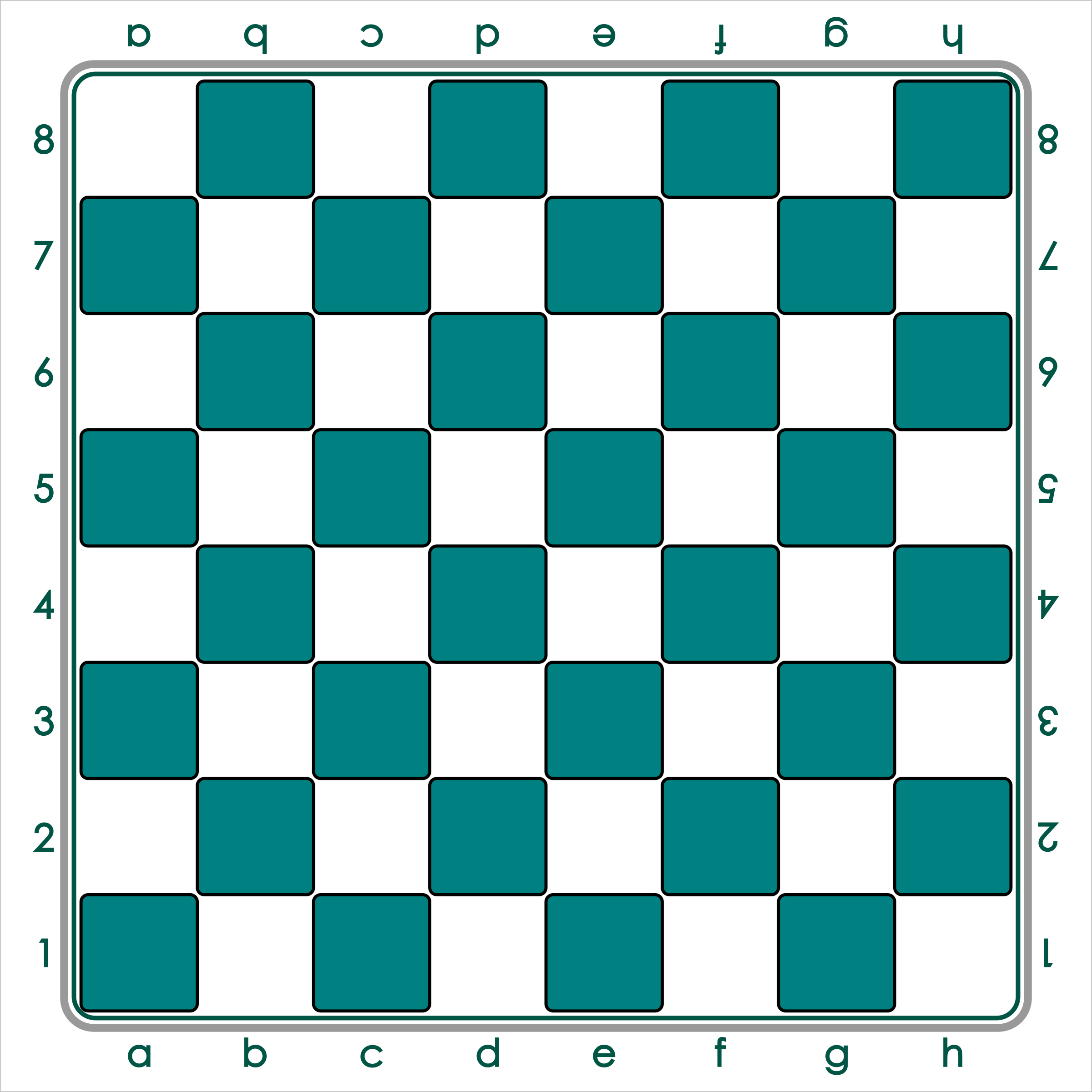 Standard Chess Board - Green / Tablero de Ajedrez - Verde by DG-RA
