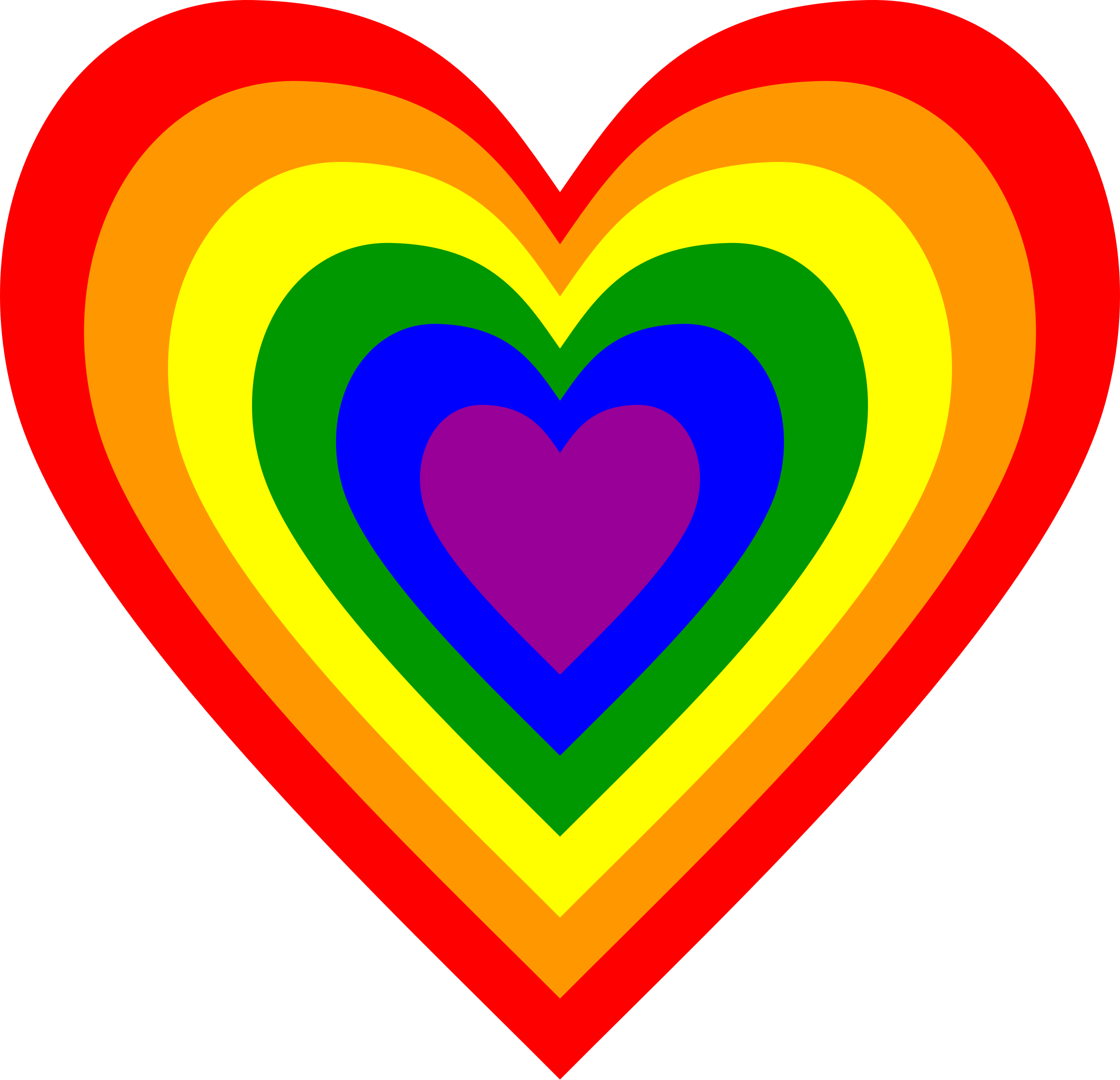 Rainbow heart by Firkin