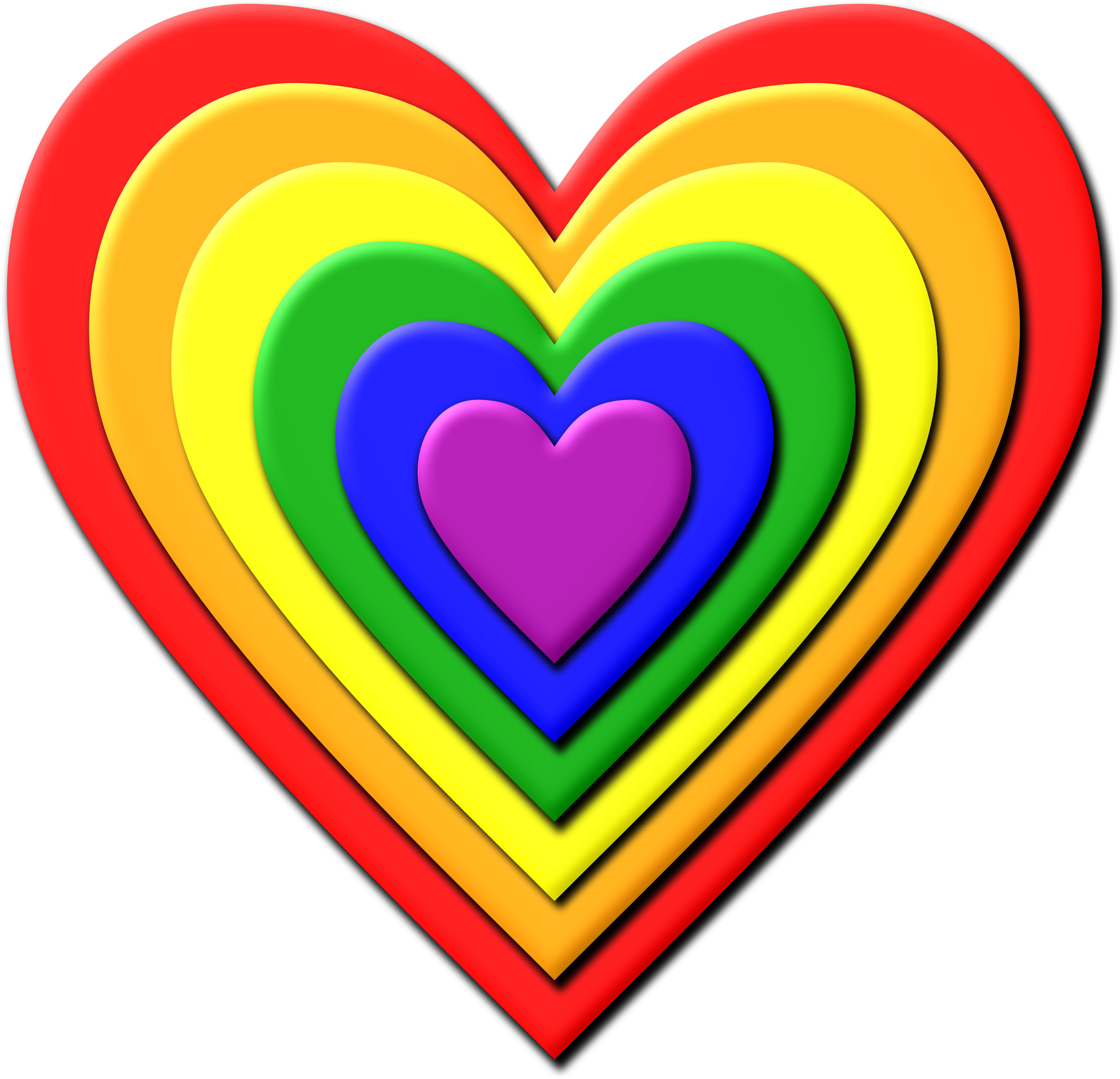 Rainbow heart 2 by Firkin