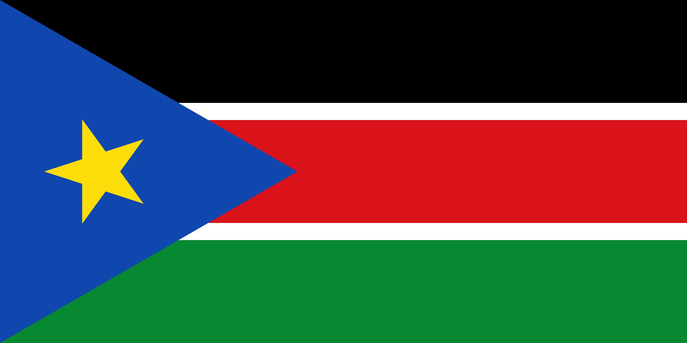 Clipart South Sudan Flag
