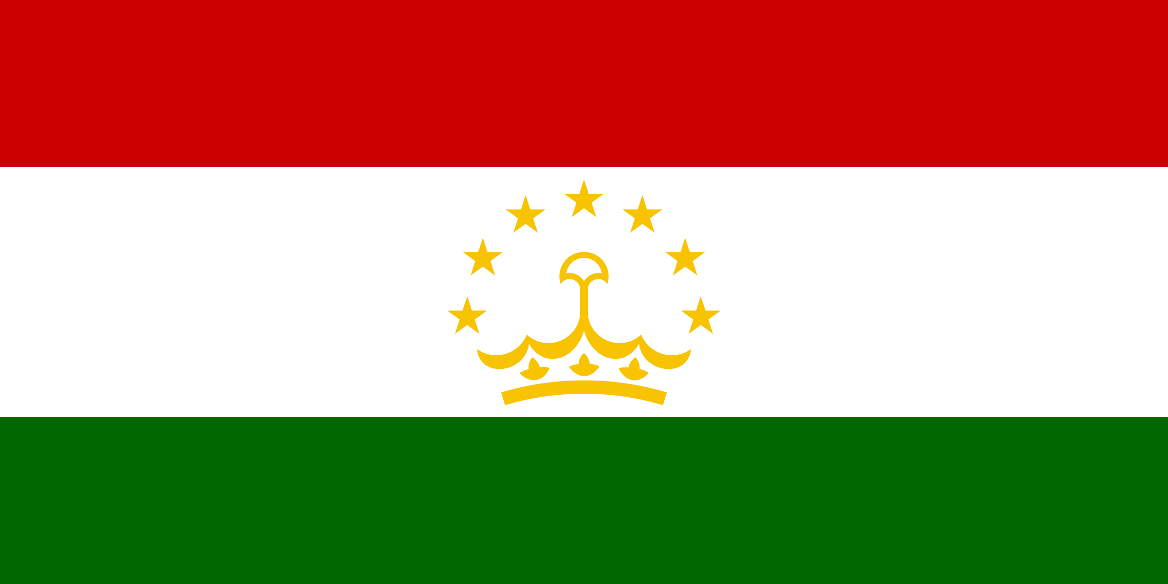 Flaf of Tajikistan by Clon