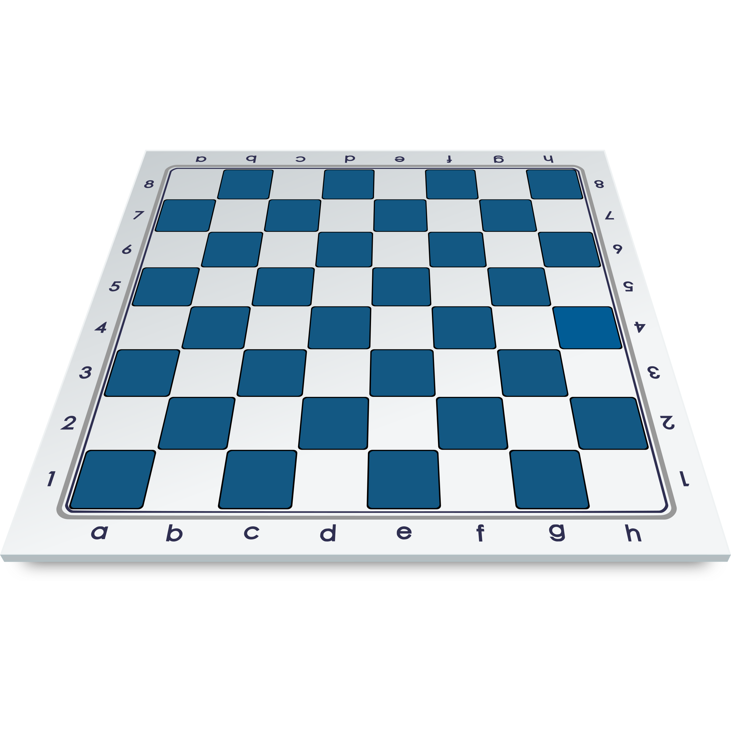 Chess Board in Frontal Perspective / Tablero en Perspectiva Frontal by DG-RA