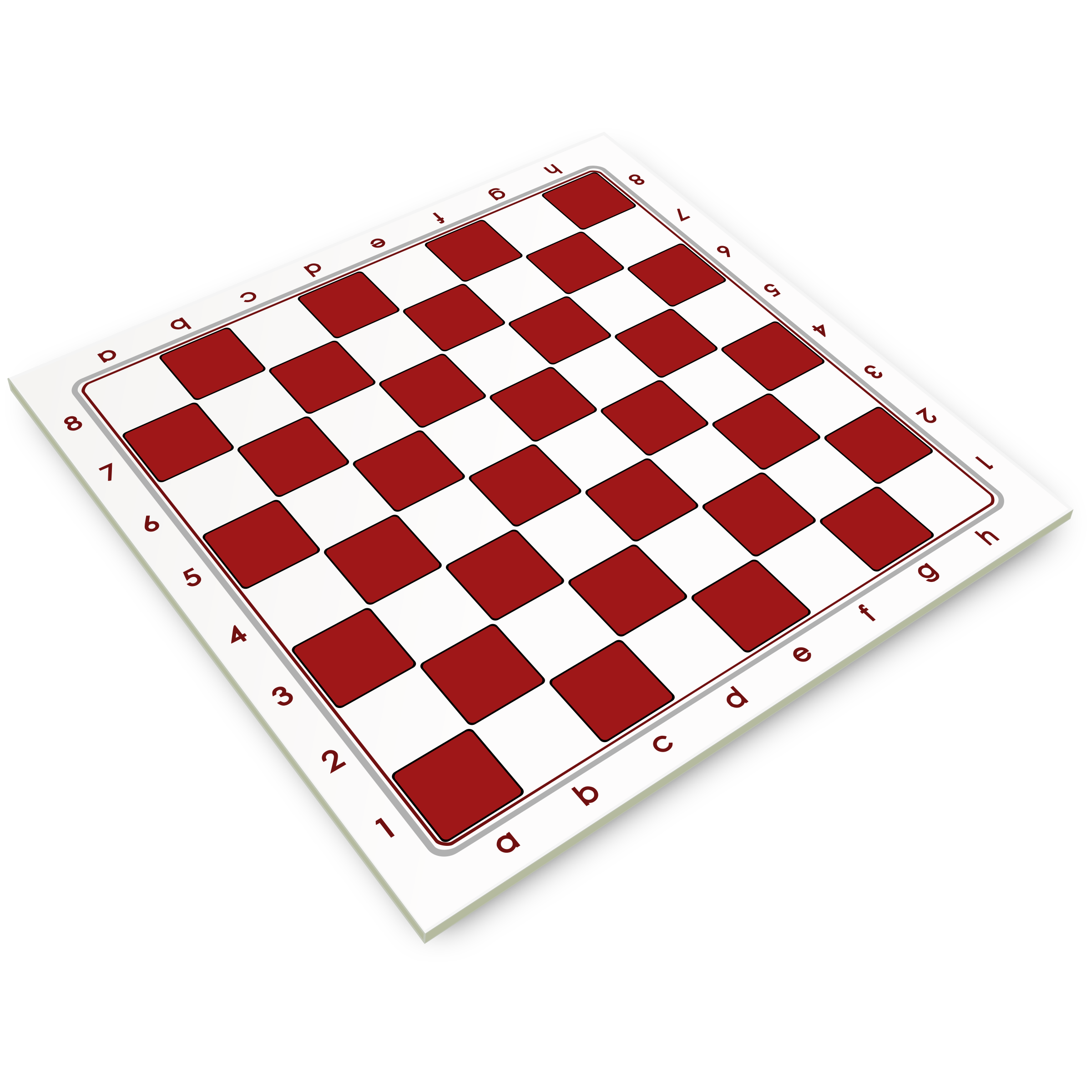 Chessboard in Half-way Perspective / Tablero en Perspectiva Semi-lateral by DG-RA