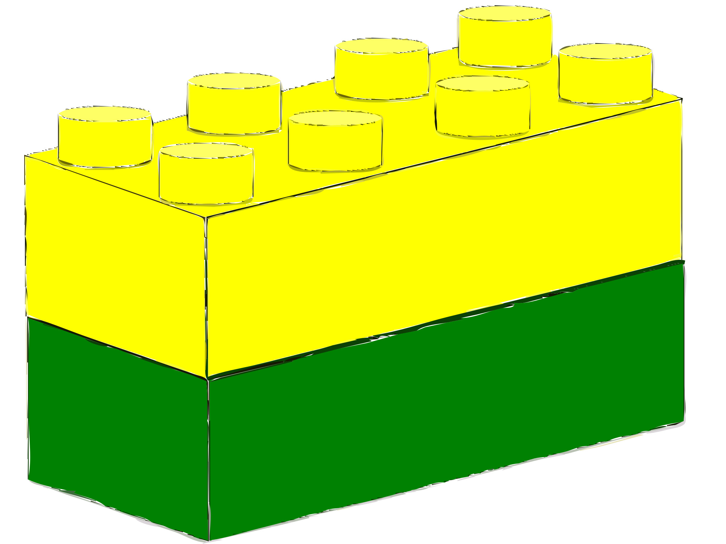 Bricks Yellow Green by mcgrath.timothy