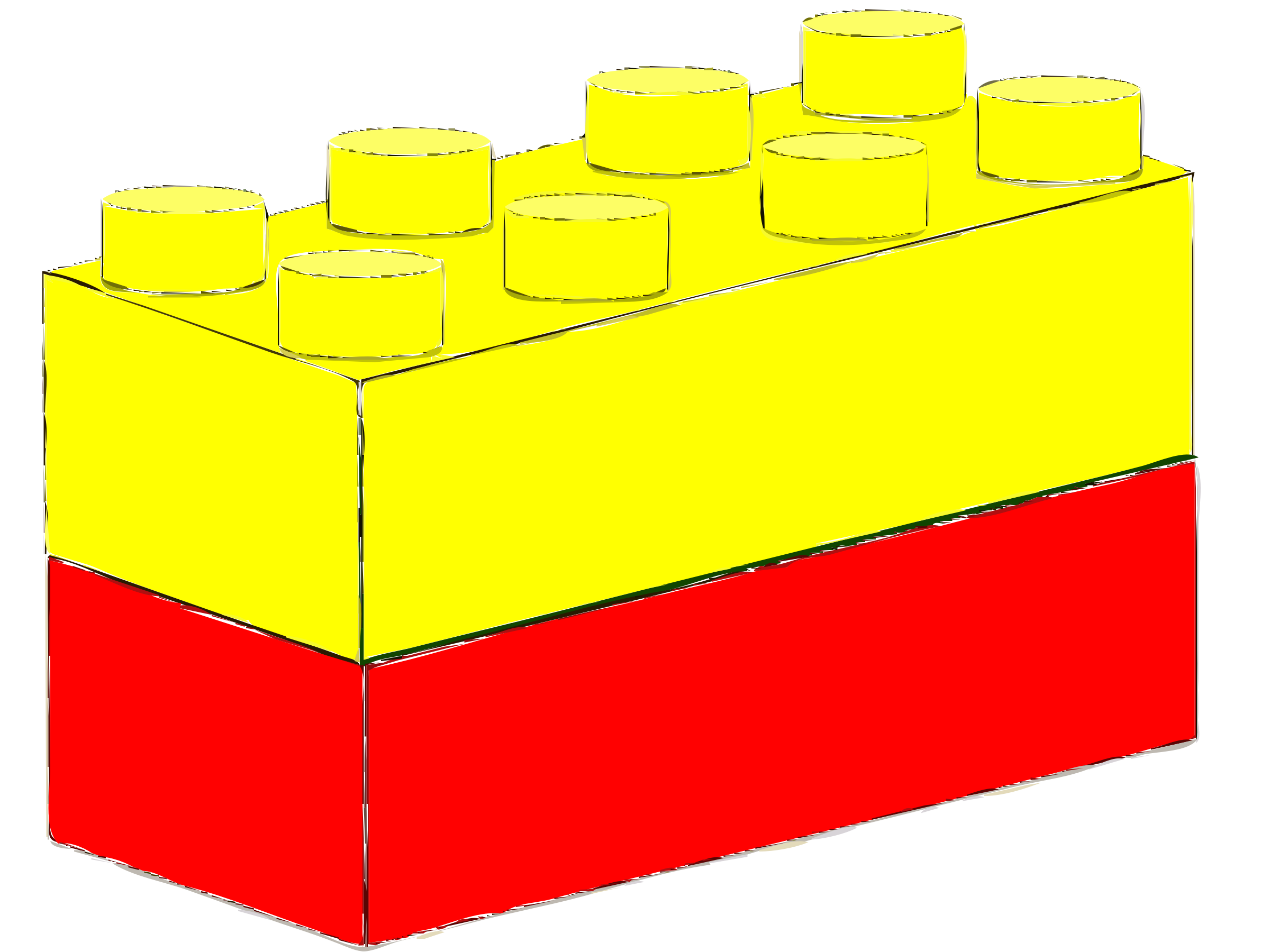 Bricks Yellow Red by mcgrath.timothy