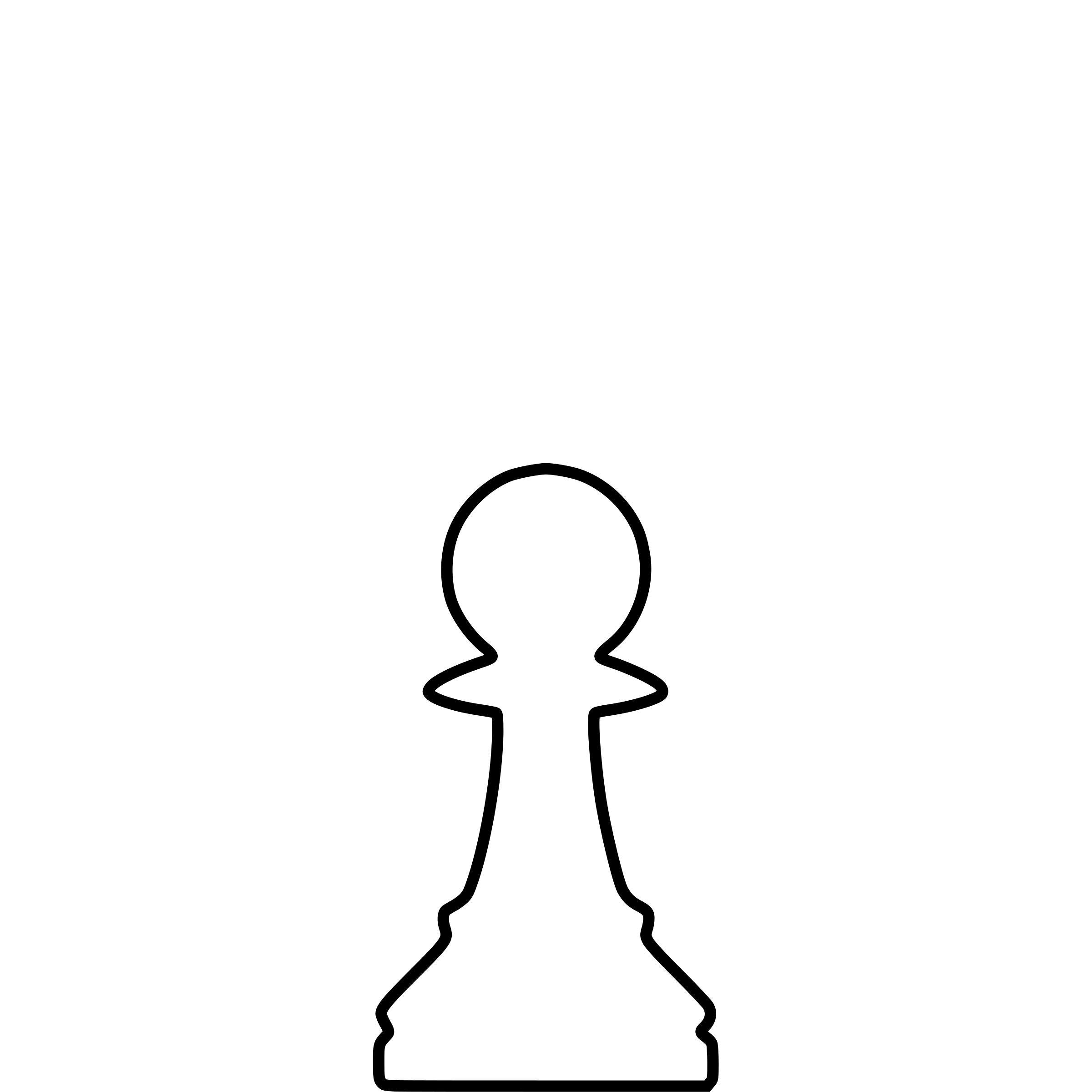 White Silhouette Chess Piece REMIX – Pawn / Peón by DG-RA