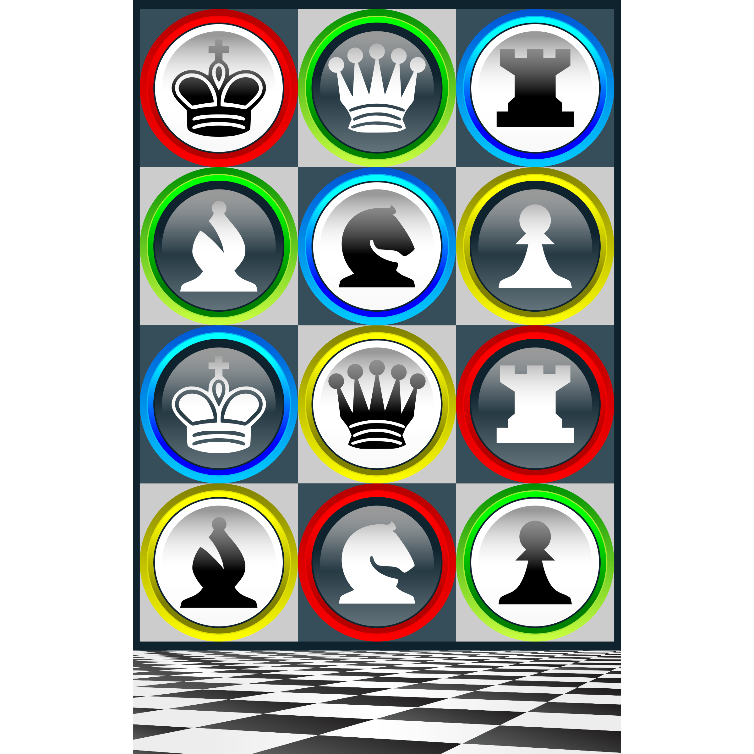 Poster Chess Patterns / Poster Patrones Ajedrez de Colores by DG-RA
