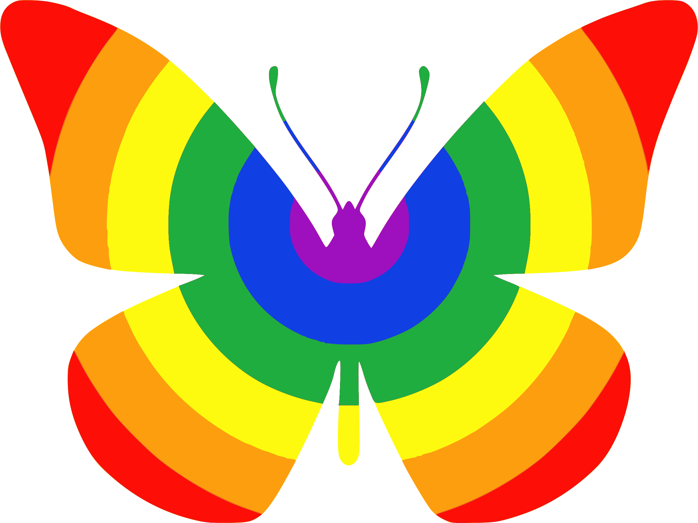 Rainbow Butterfly by phidari